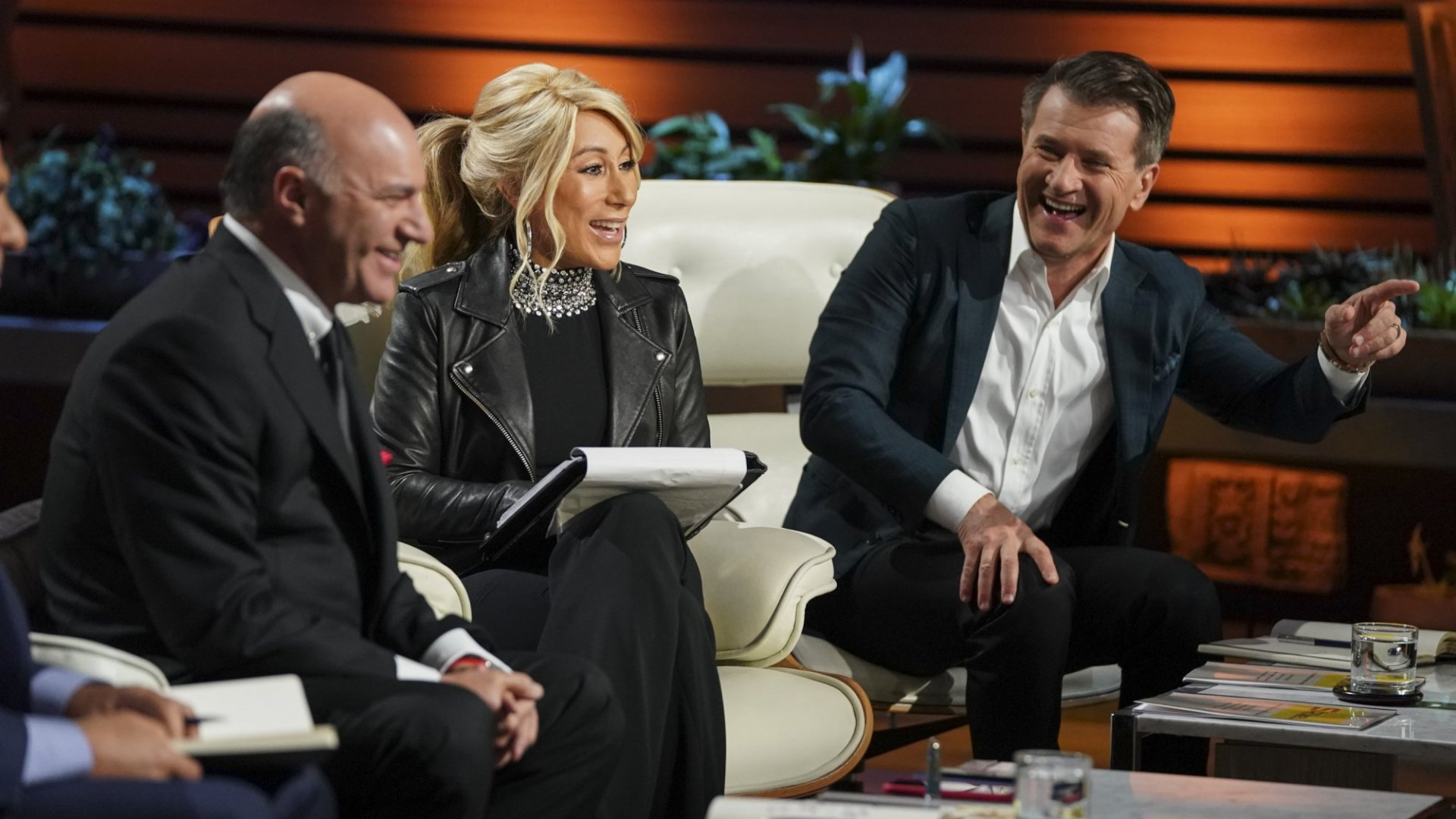 Timothy O'Leary, Lori Greiner, and Robert Herjavec on 'Shark Tank.'