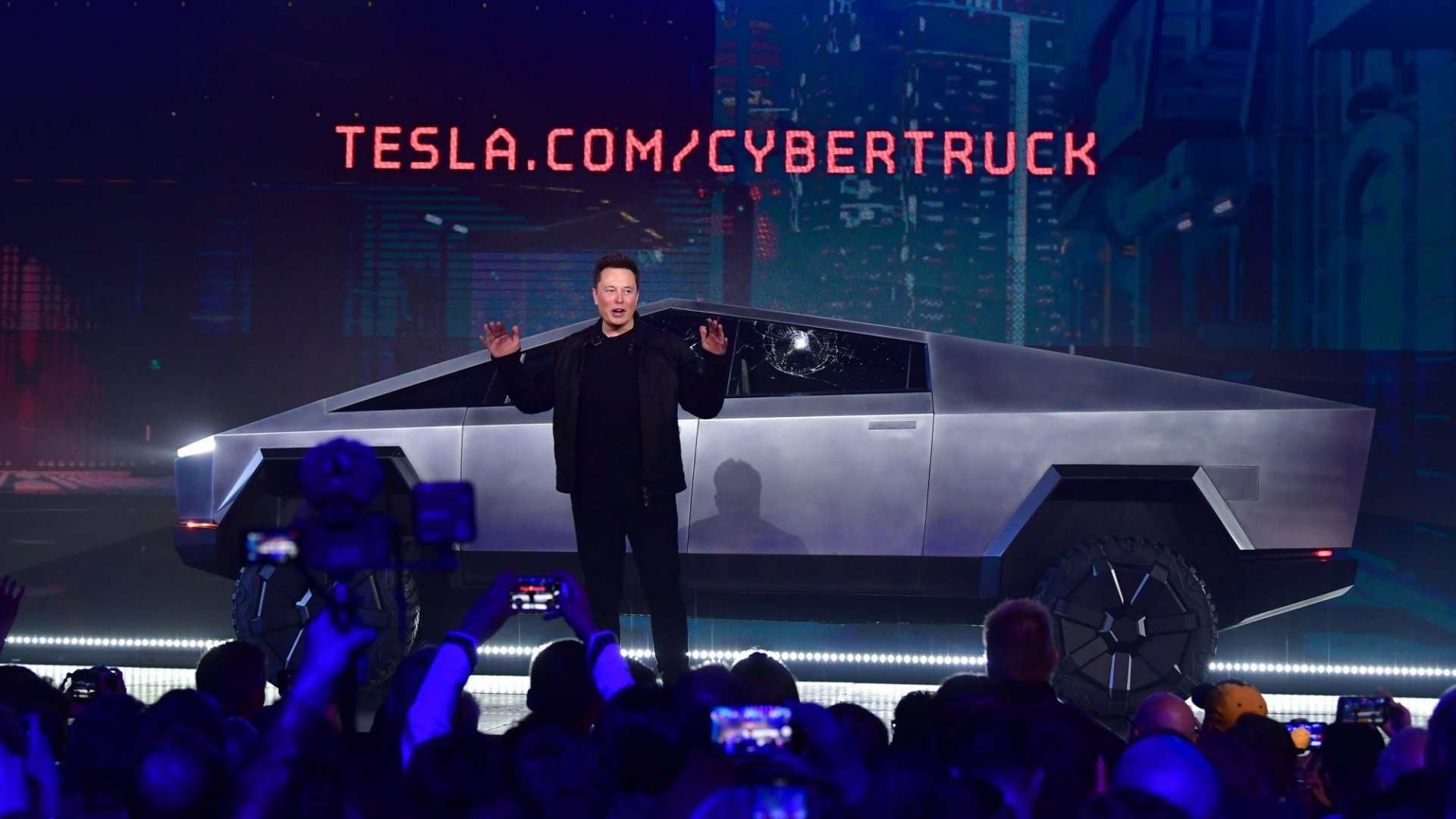 Elon Musk and Tesla's Cybertruck.