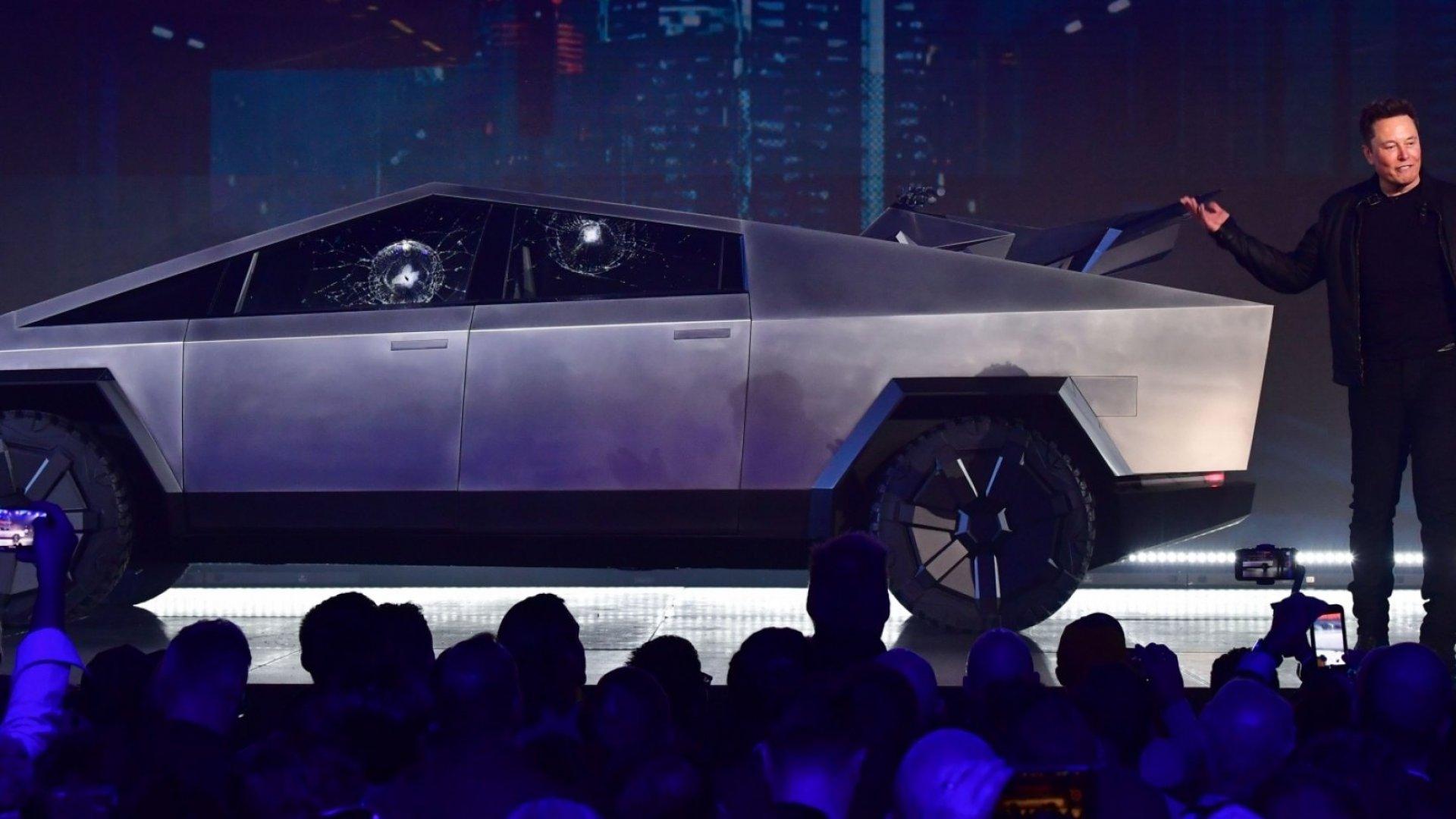 Elon Musk and Tesla's Cybertruck.