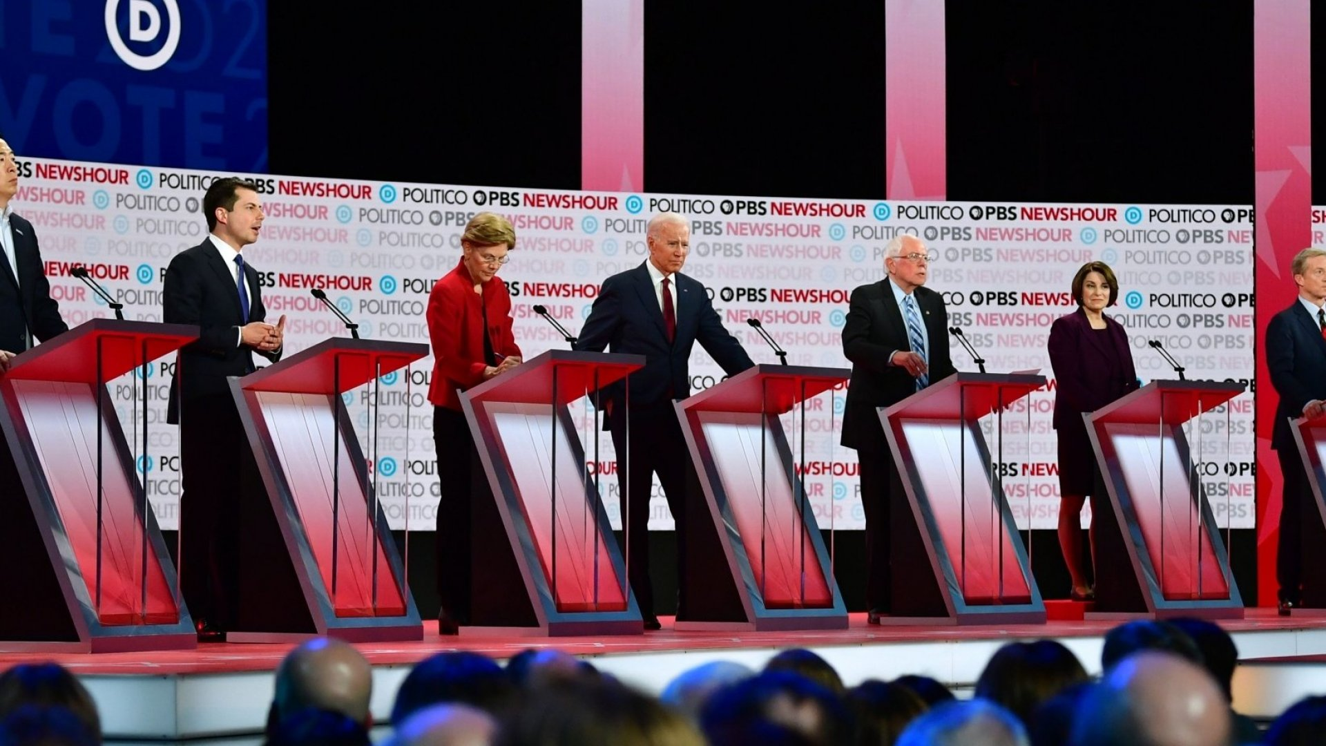 Democratic Candidates Face Off on the Economy, the Environment, and Money in Politics
