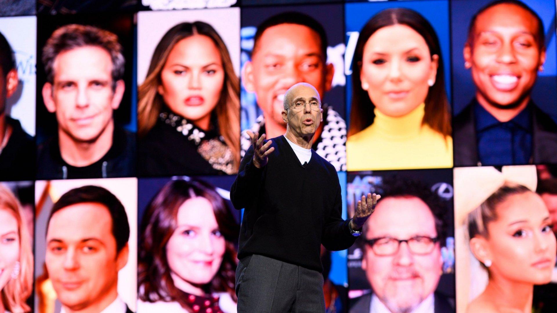Jeffrey Katzenberg onstage at CES 2020.