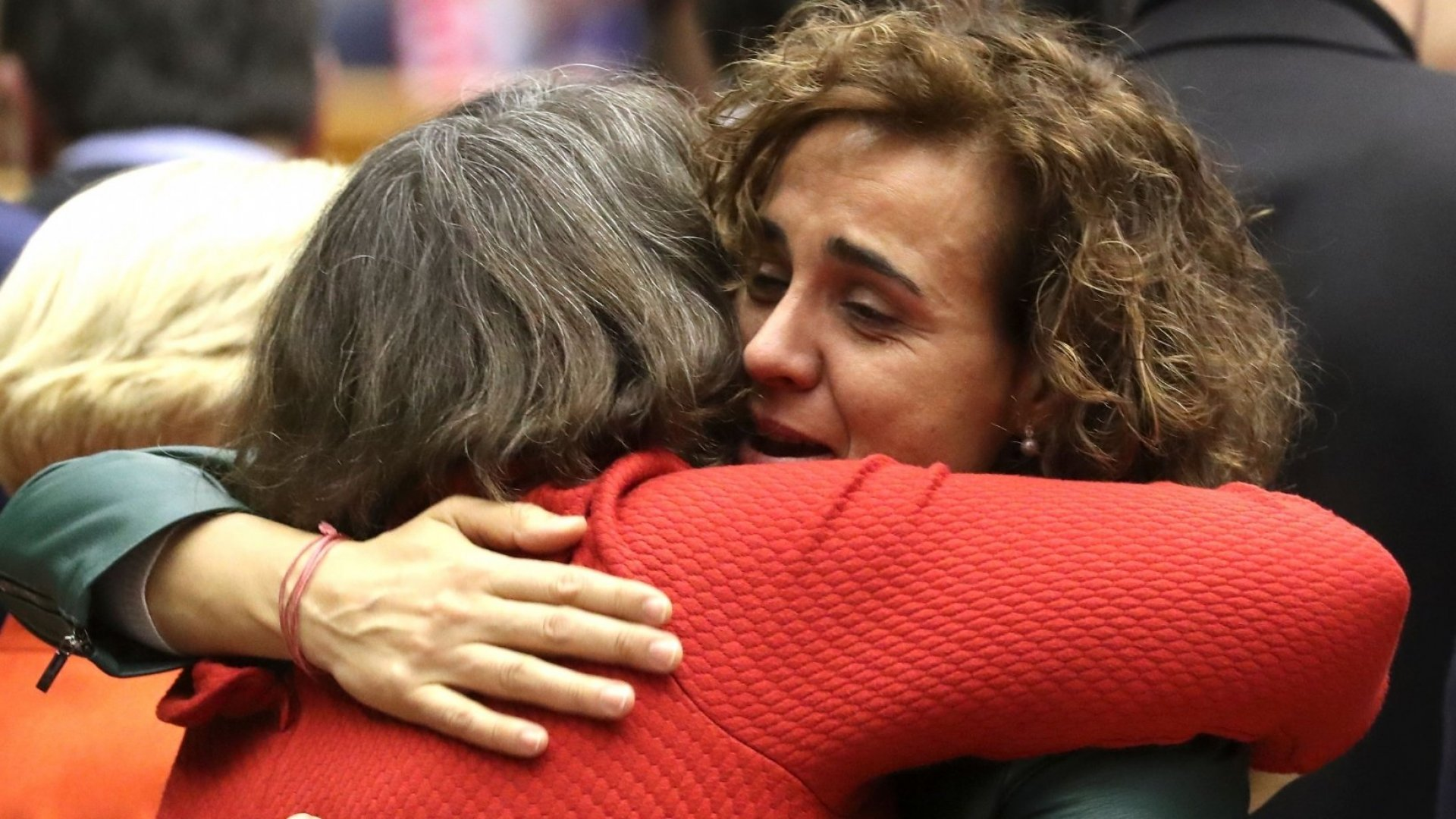 British members of the European Parliament said a tearful goodbye to their European colleagues on Wednesday.