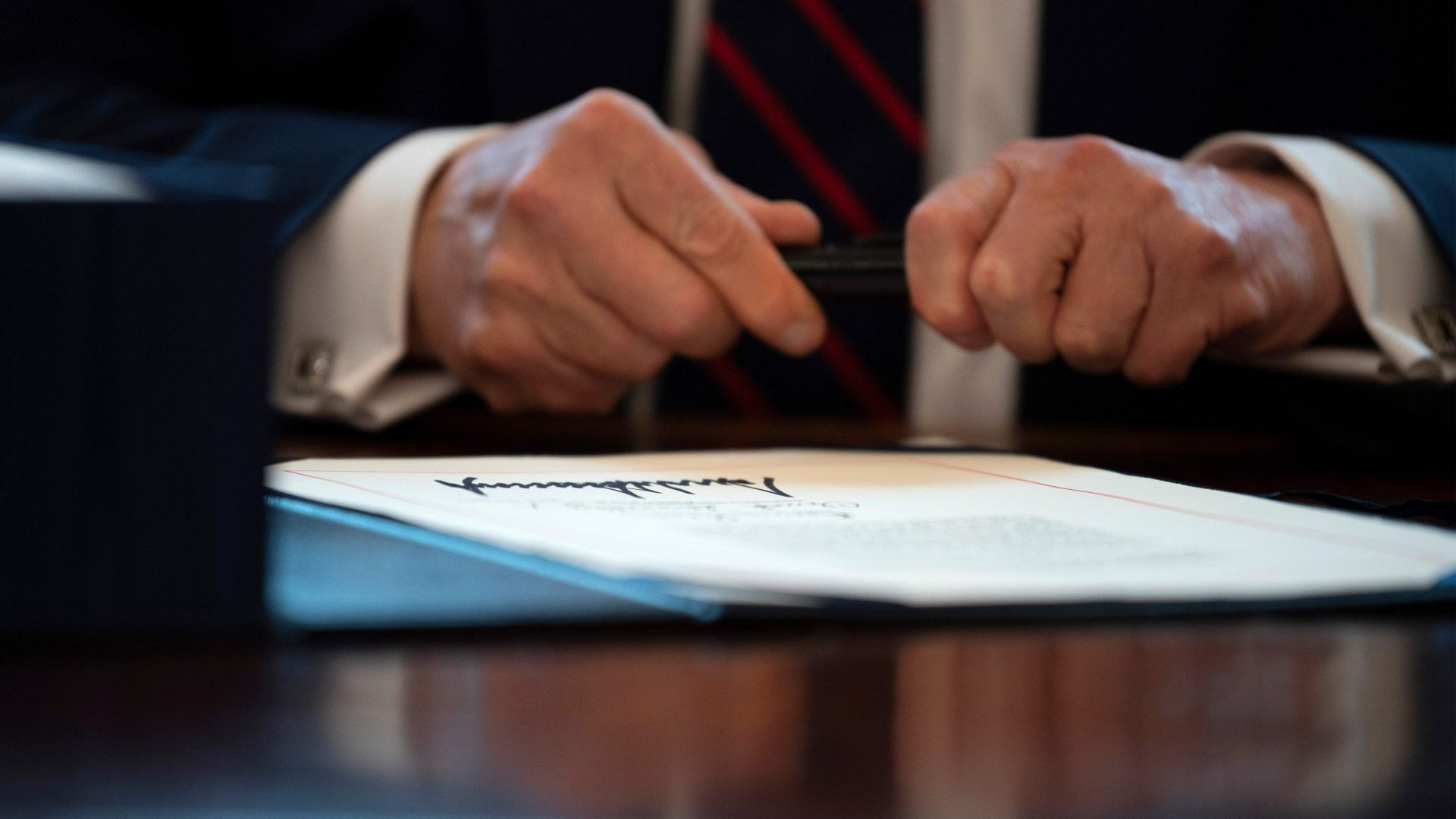 President Trump Signs $2.2 Trillion Economic Rescue Package Into Law