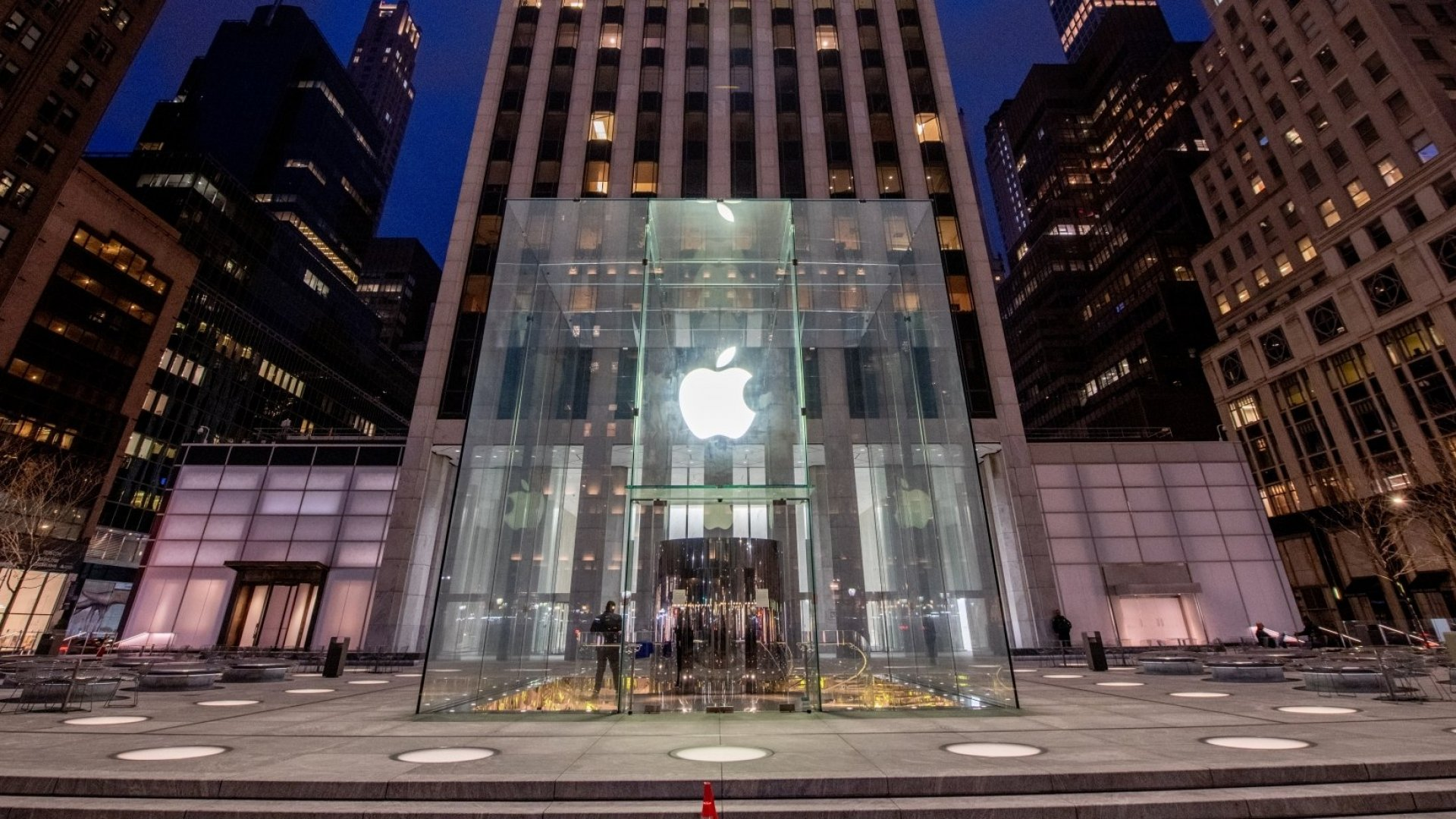 An Apple Store in New York City.