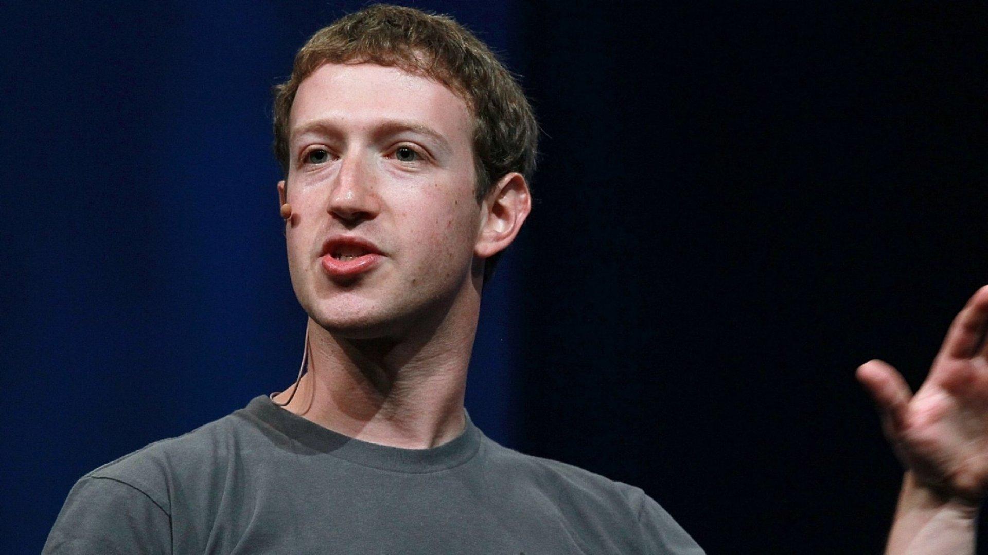 Mark Zuckerberg, co-founder and CEO of Facebook.