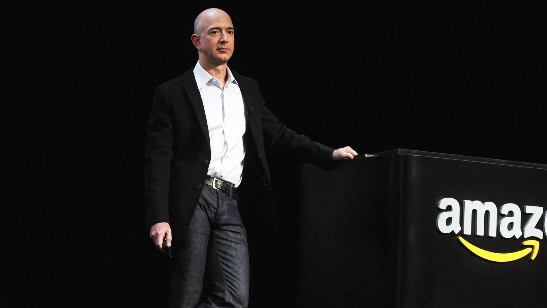 Amazon founder and CEO Jeff Bezos at an event.