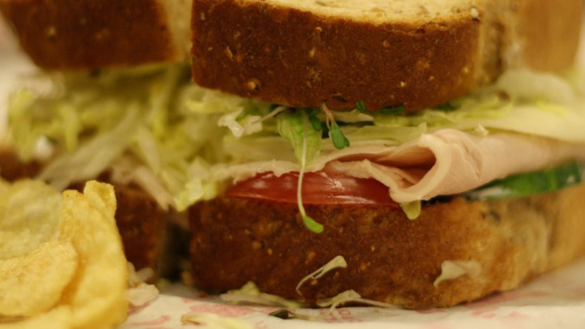 Washington, DC -- Dec. 15, 2011. The Beach Club sandwich on seven grain bread from Jimmy John's in Washington D.C., one of the popular sandwich chain's more exciting menu items. (Photo by Alex Baldinger/The Washington Post via Getty Images)