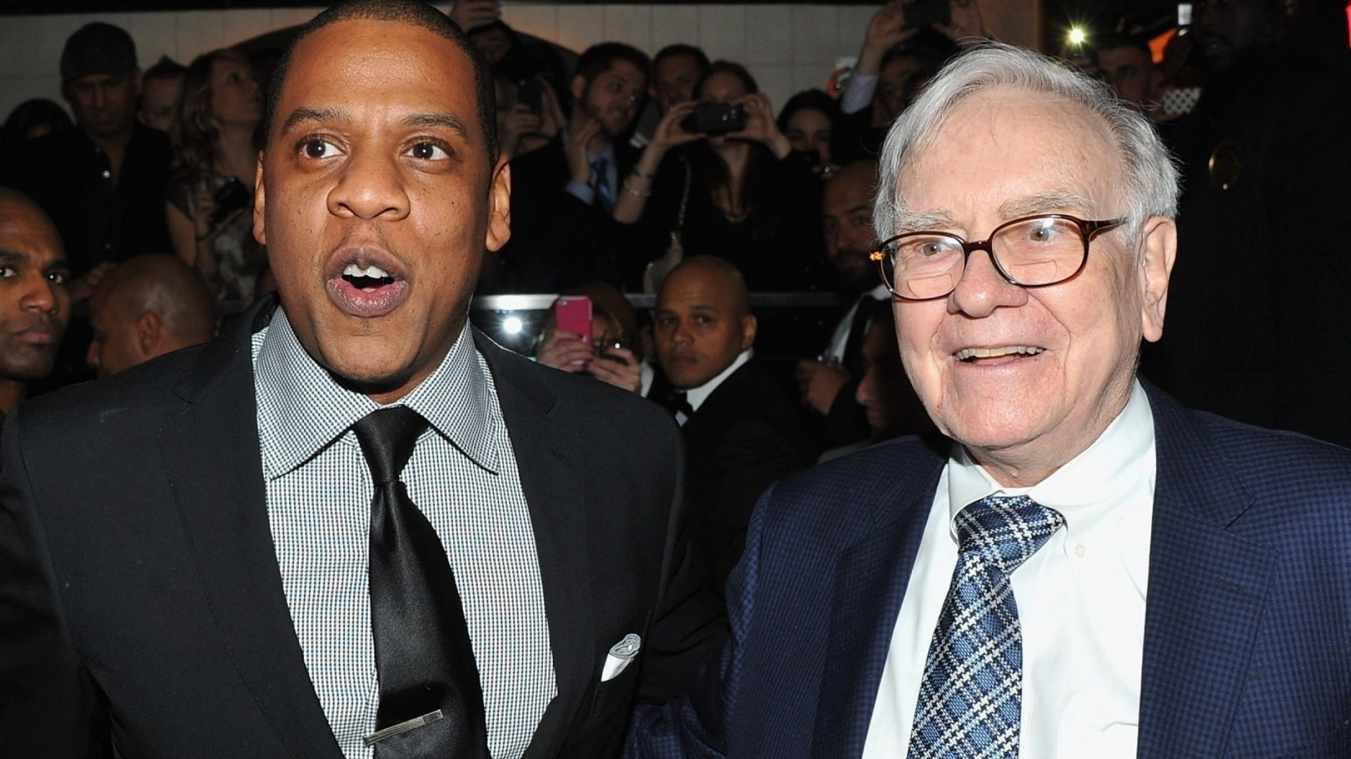 Jay-Z and Warren Buffett.