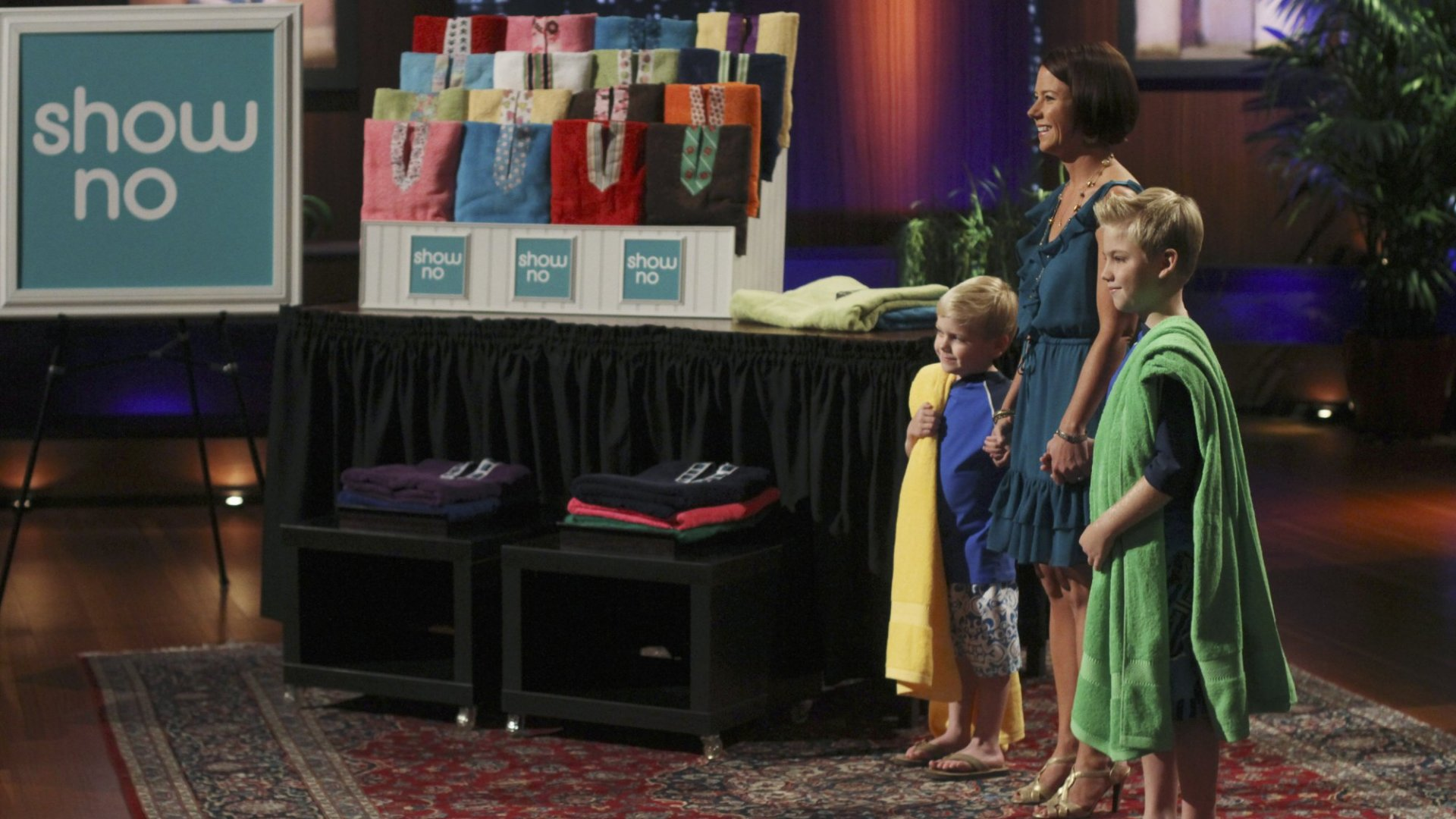 Shark Tank Episode featuring SHELLY EHLER (SHOWNO) - (Photo by Michael ​Ansell/ABC via Getty Images)