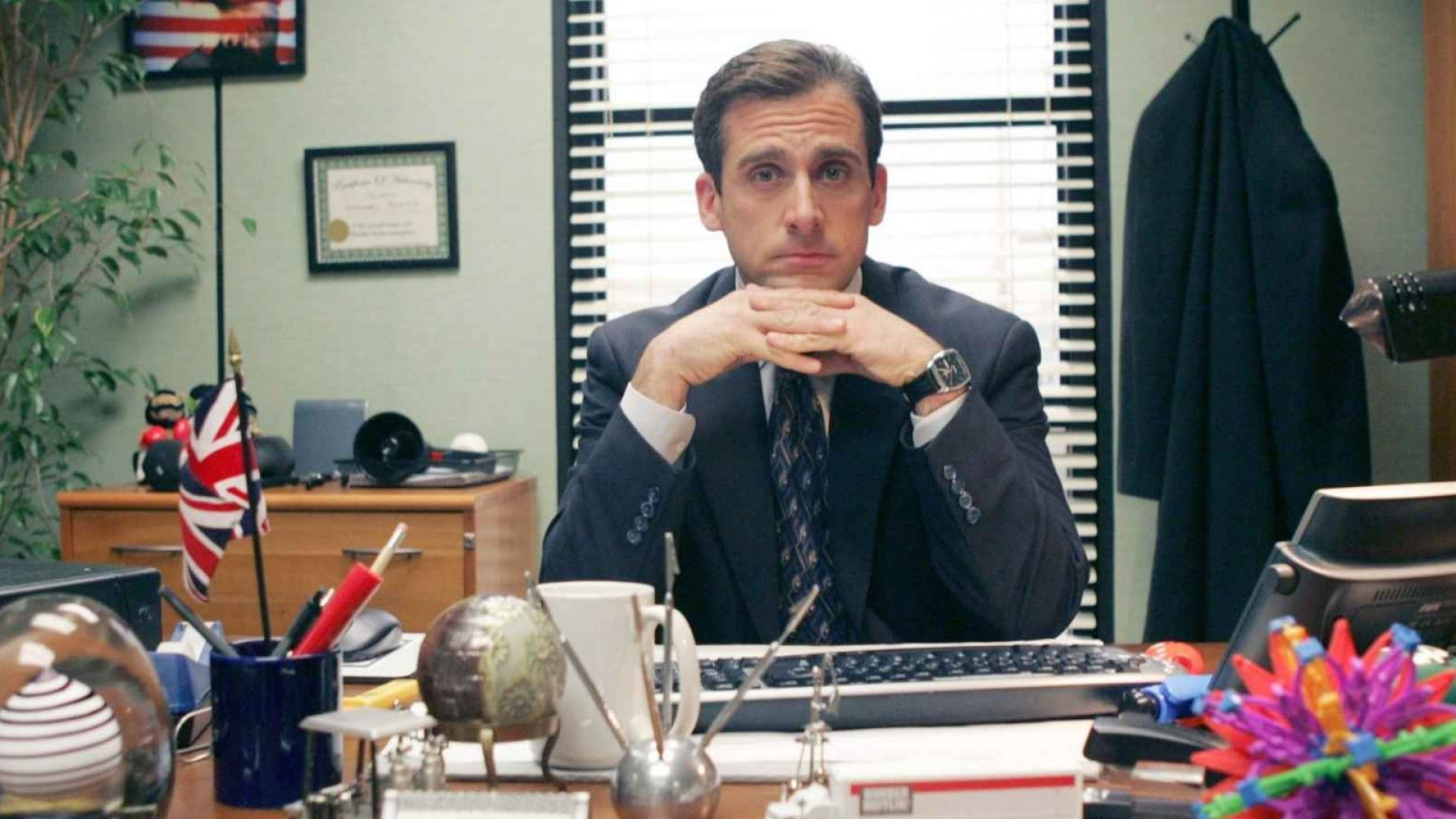 Steve Carell as Michael Scott in NBC's <em>The Office:</em> A leader who often makes questionable moves despite meaning well.