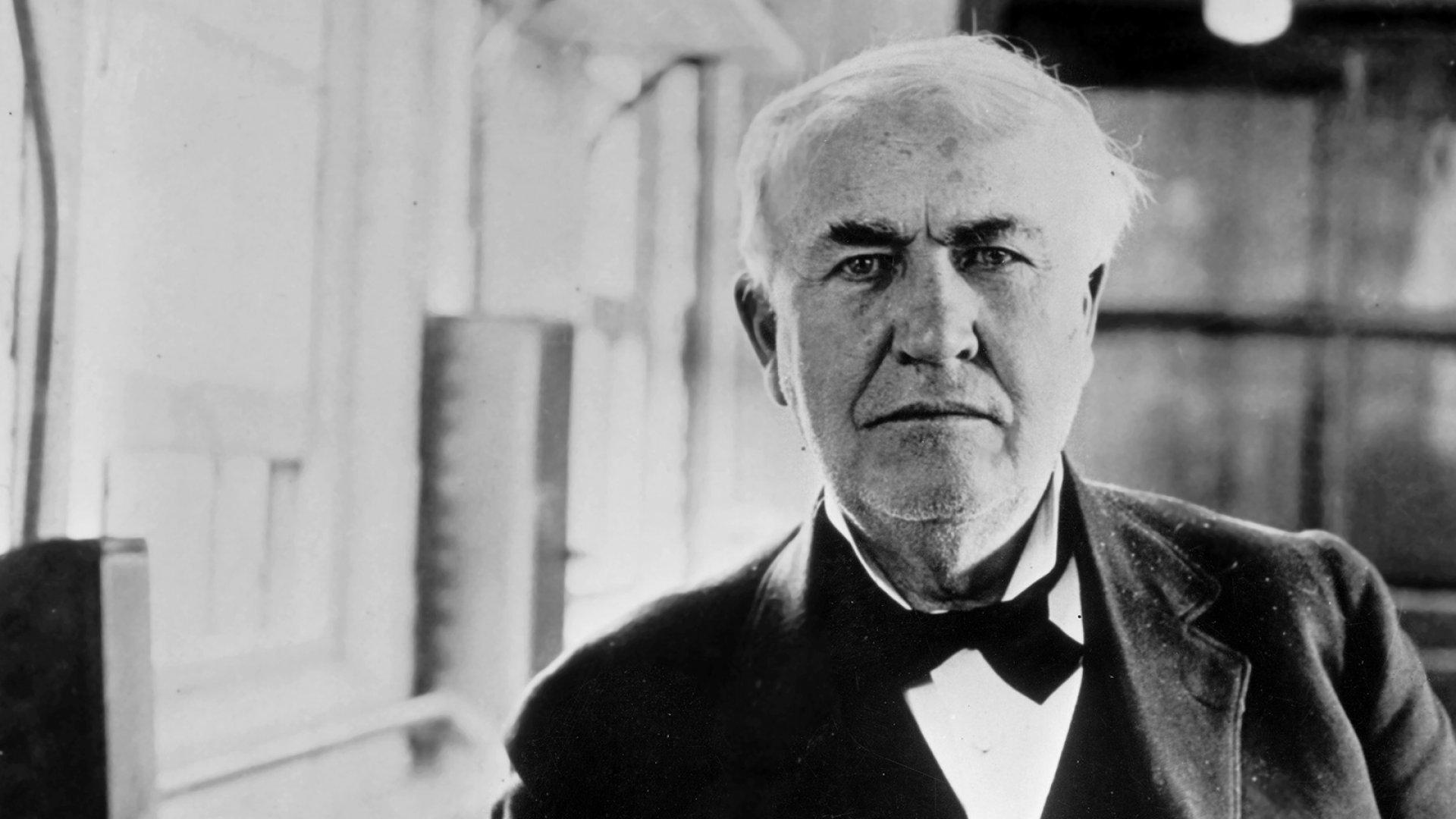 American inventor Thomas Edison.