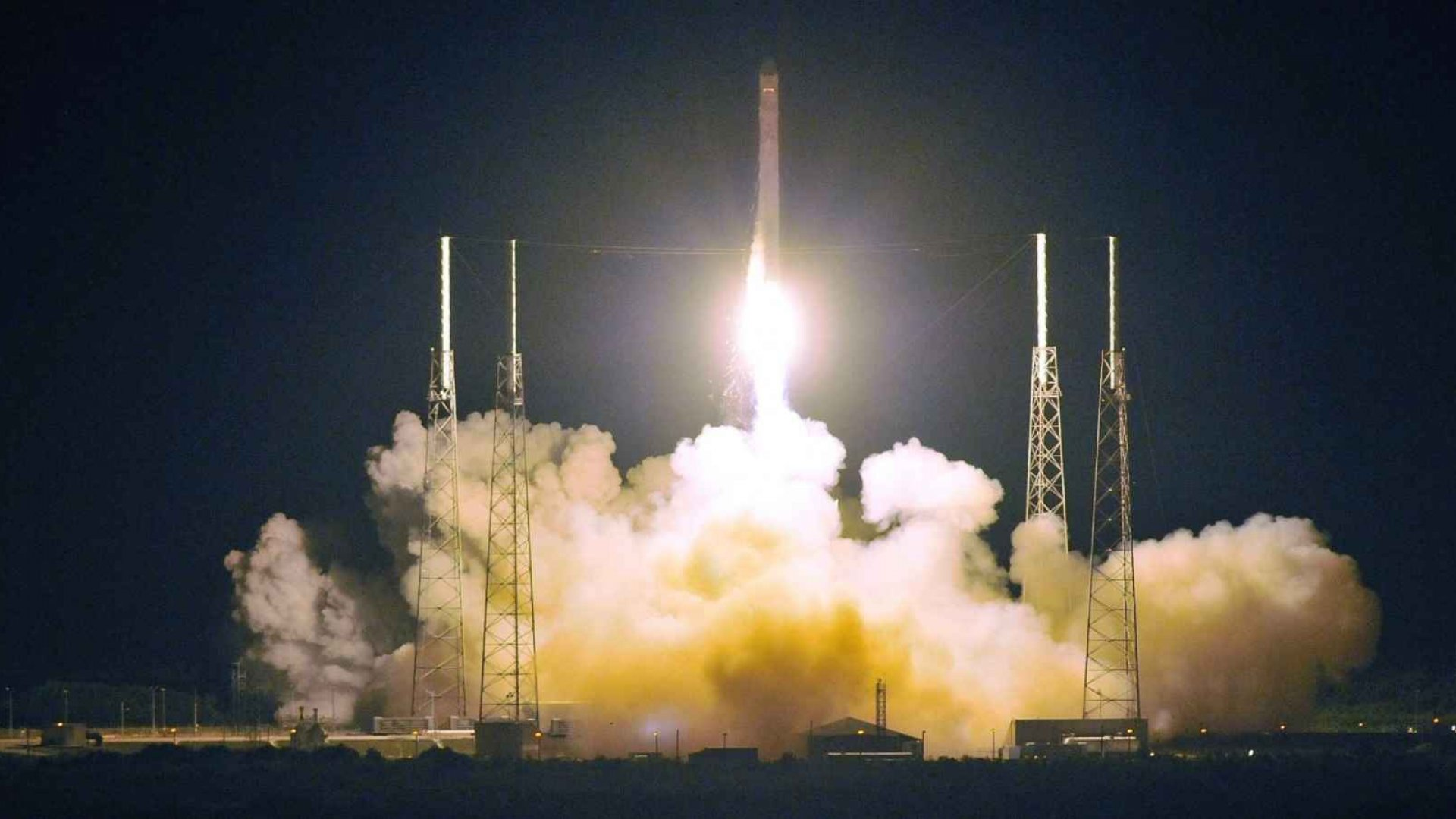 SpaceX's Falcon 9 rocket takes off from Cape Canaveral.