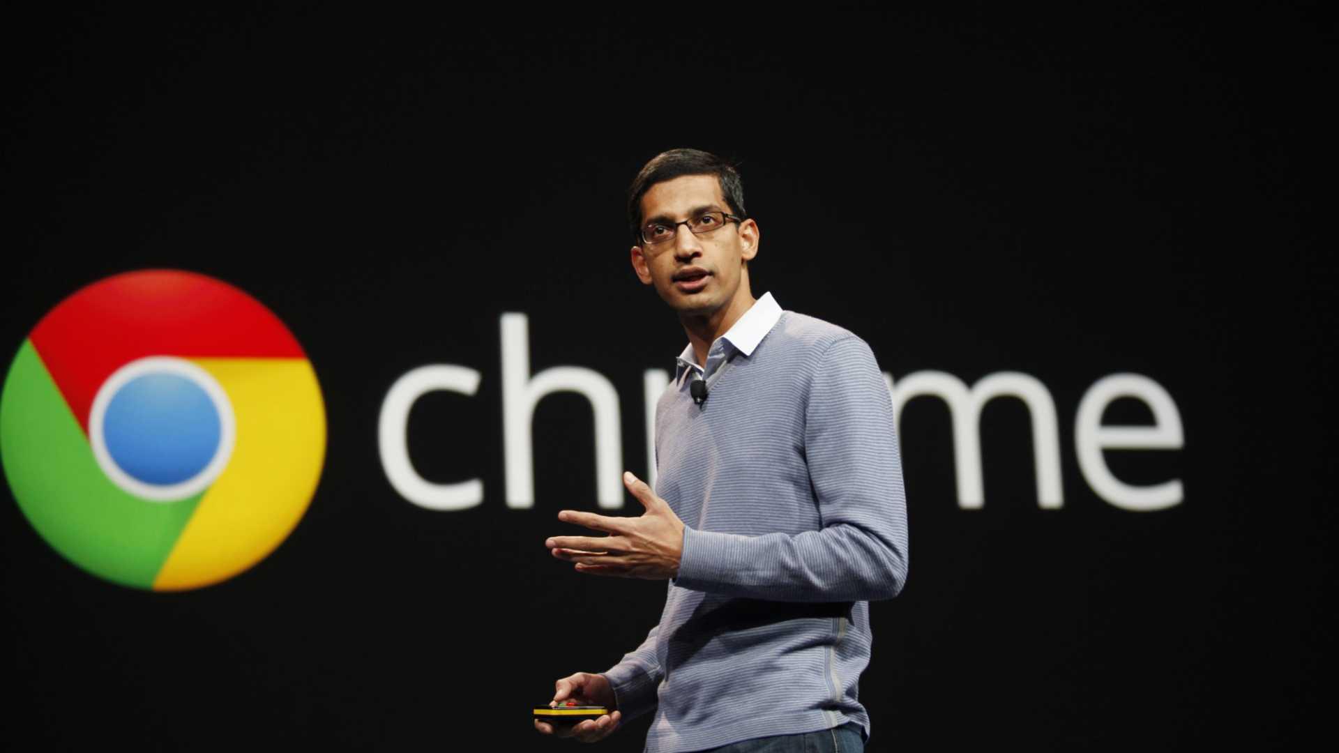 Sundar Pichai speaking in 2012