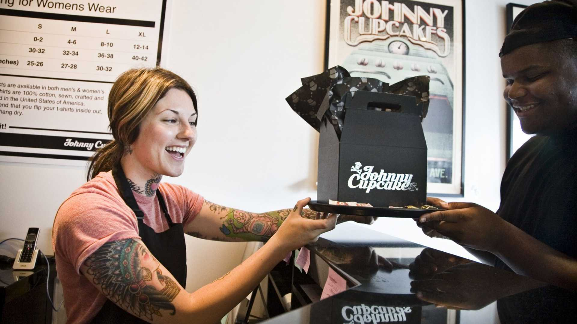 Johnny Cupcakes store.