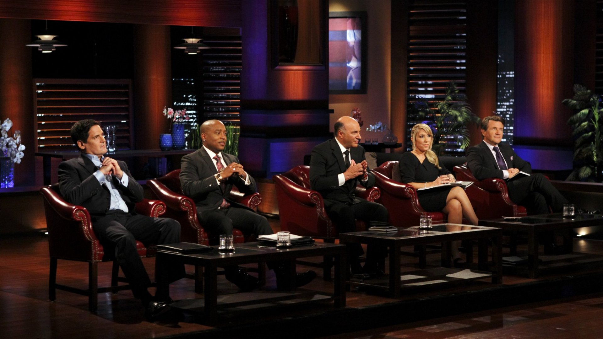 From left: Mark Cuban, Daymond John, Kevin O'Leary, Lori Greiner, and Robert Herjavec.