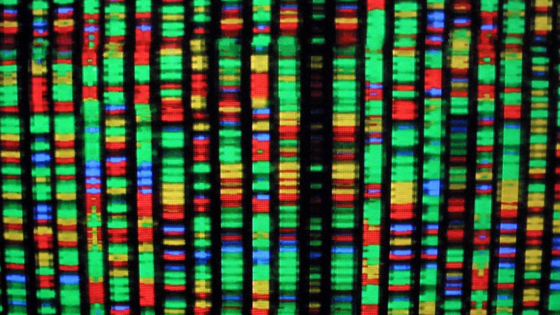 A digital representation of DNA.