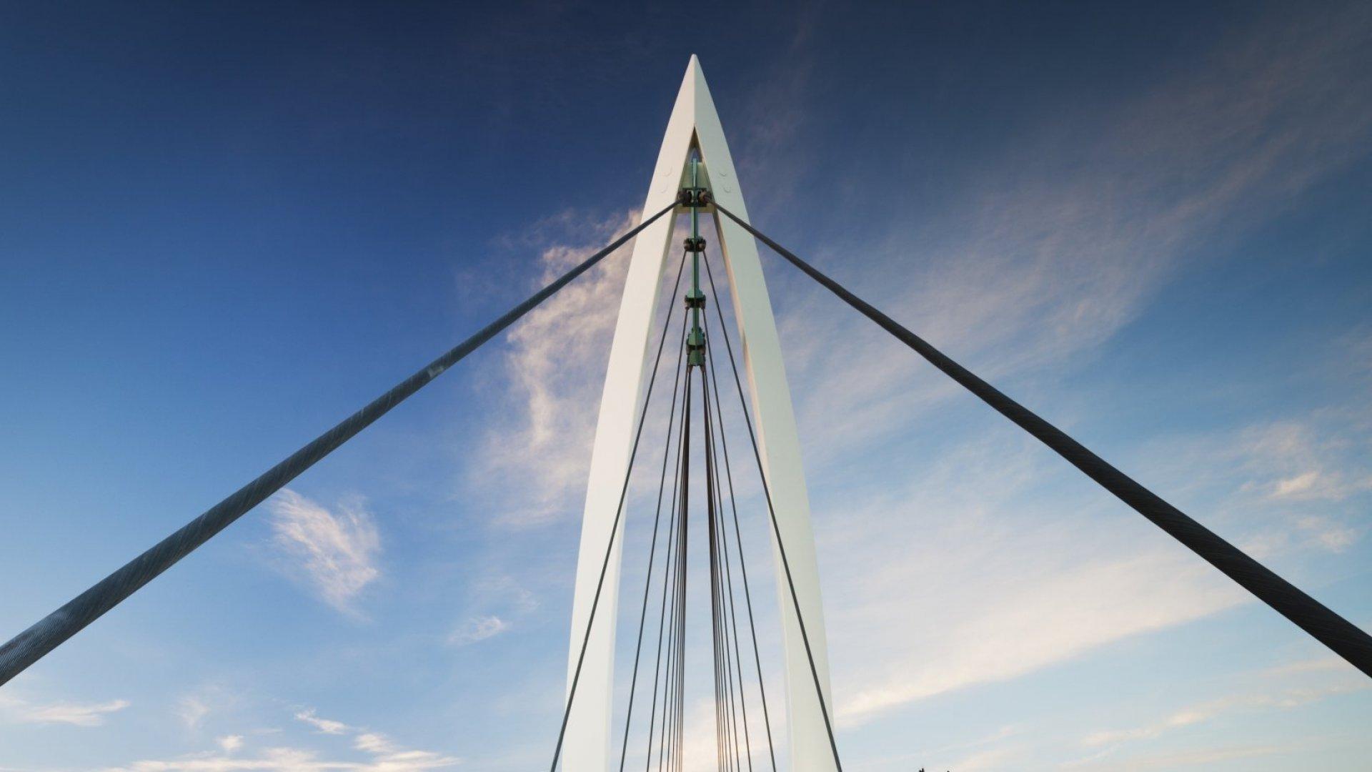 Keeper of the Plains footbridge in Wichita.