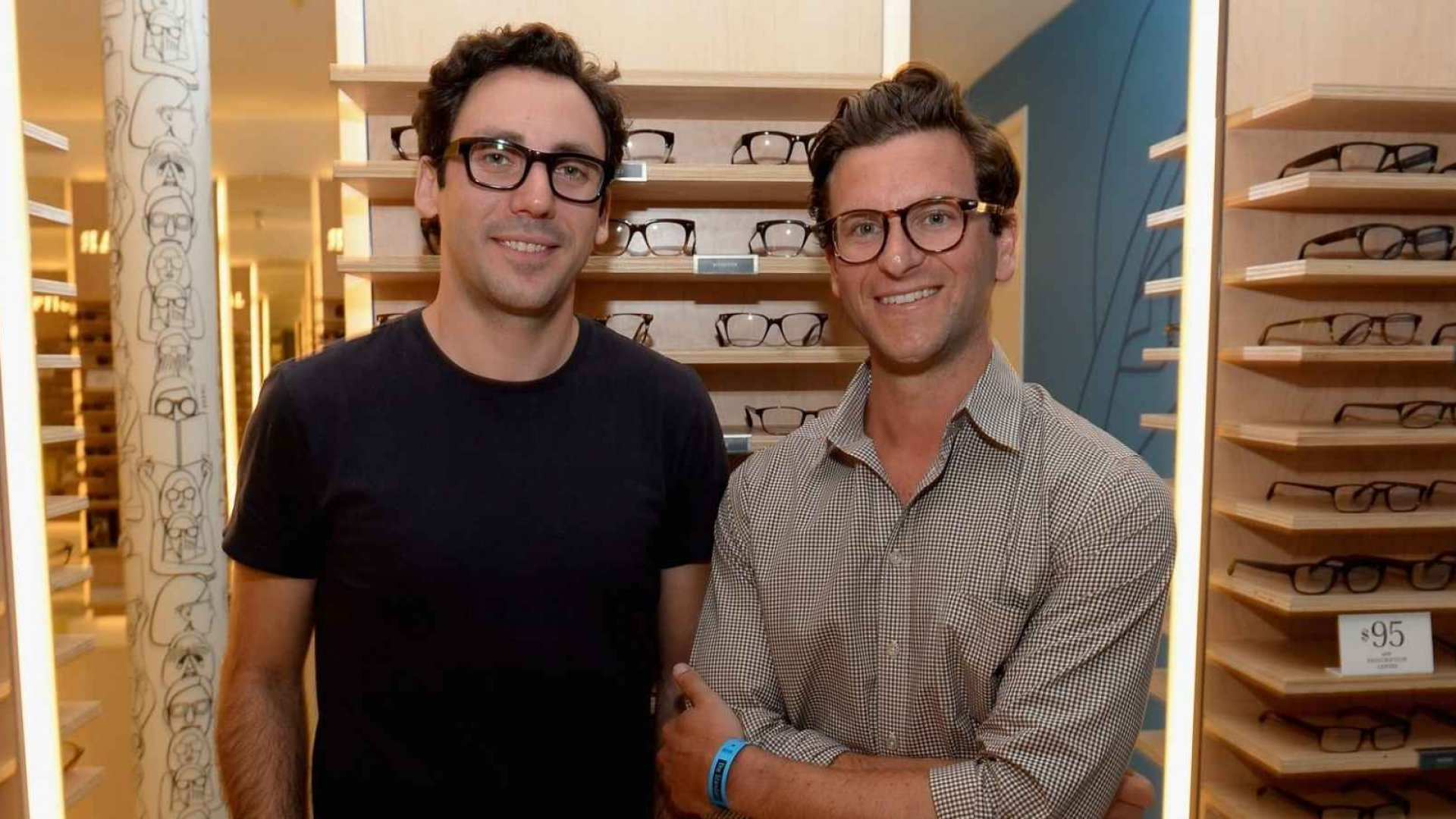 Warby Parker co-founders Neil Blumenthal (L) and Dave Gilboa.