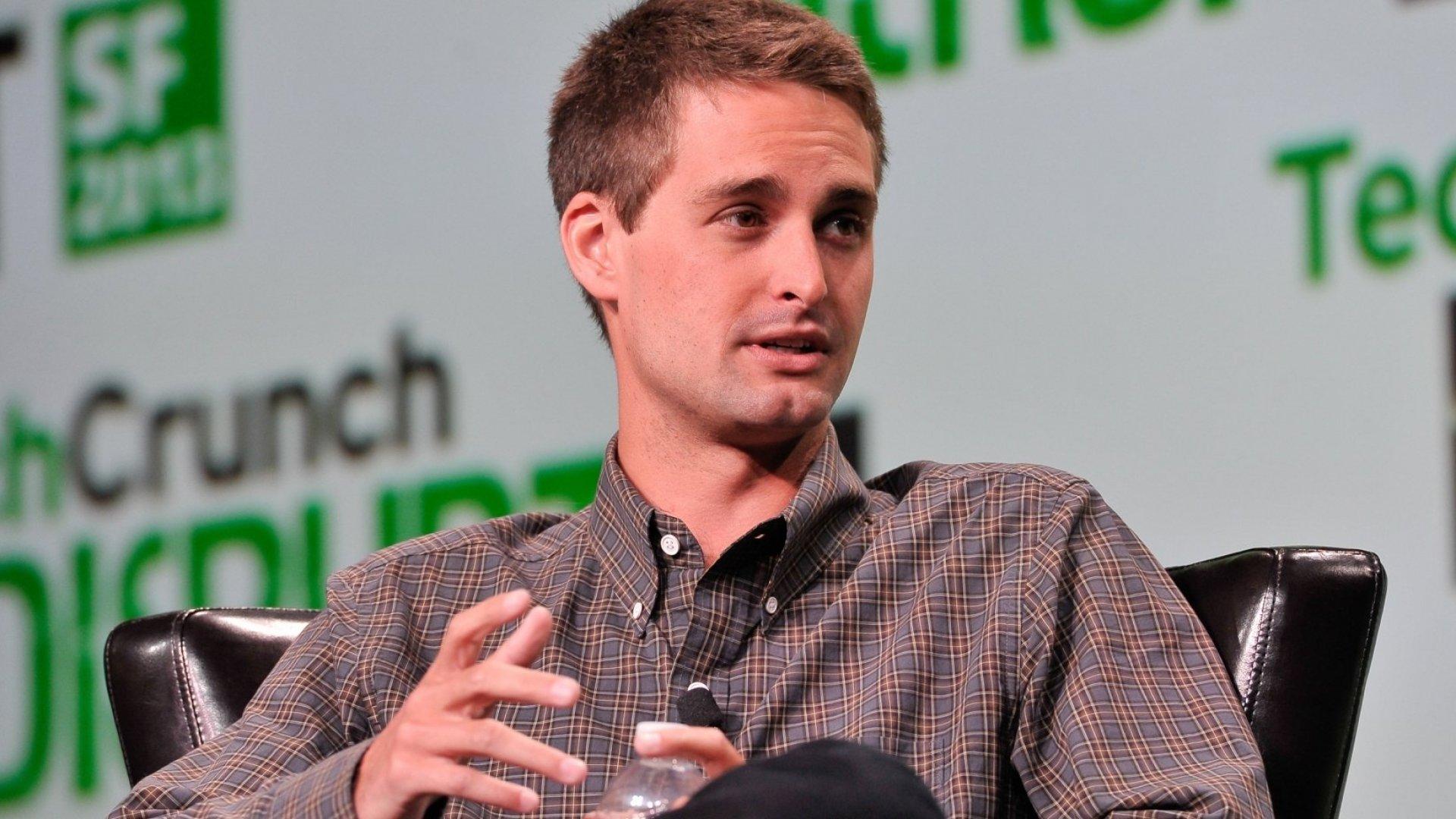 Evan Spiegel, CEO of Snapchat.