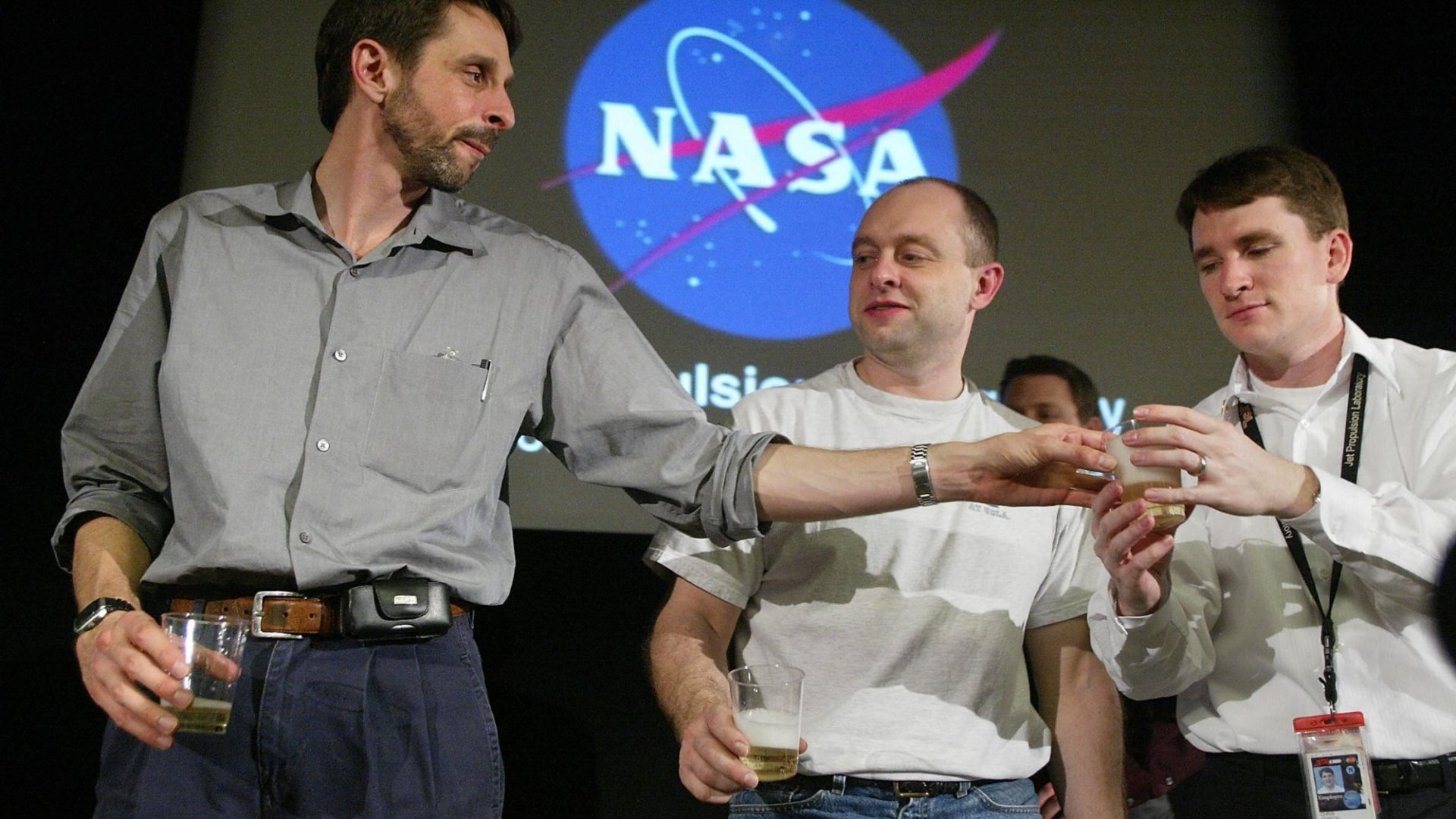 Chris Lewicki, pictured on the right, was the flight director for the Mars Exploration Rover at NASA's Jet Propulsion Laboratory, where he was part of the team that successfully landed the rover Opportunity and the Phoenix on Mars. Now he has his mind set on private space mining.