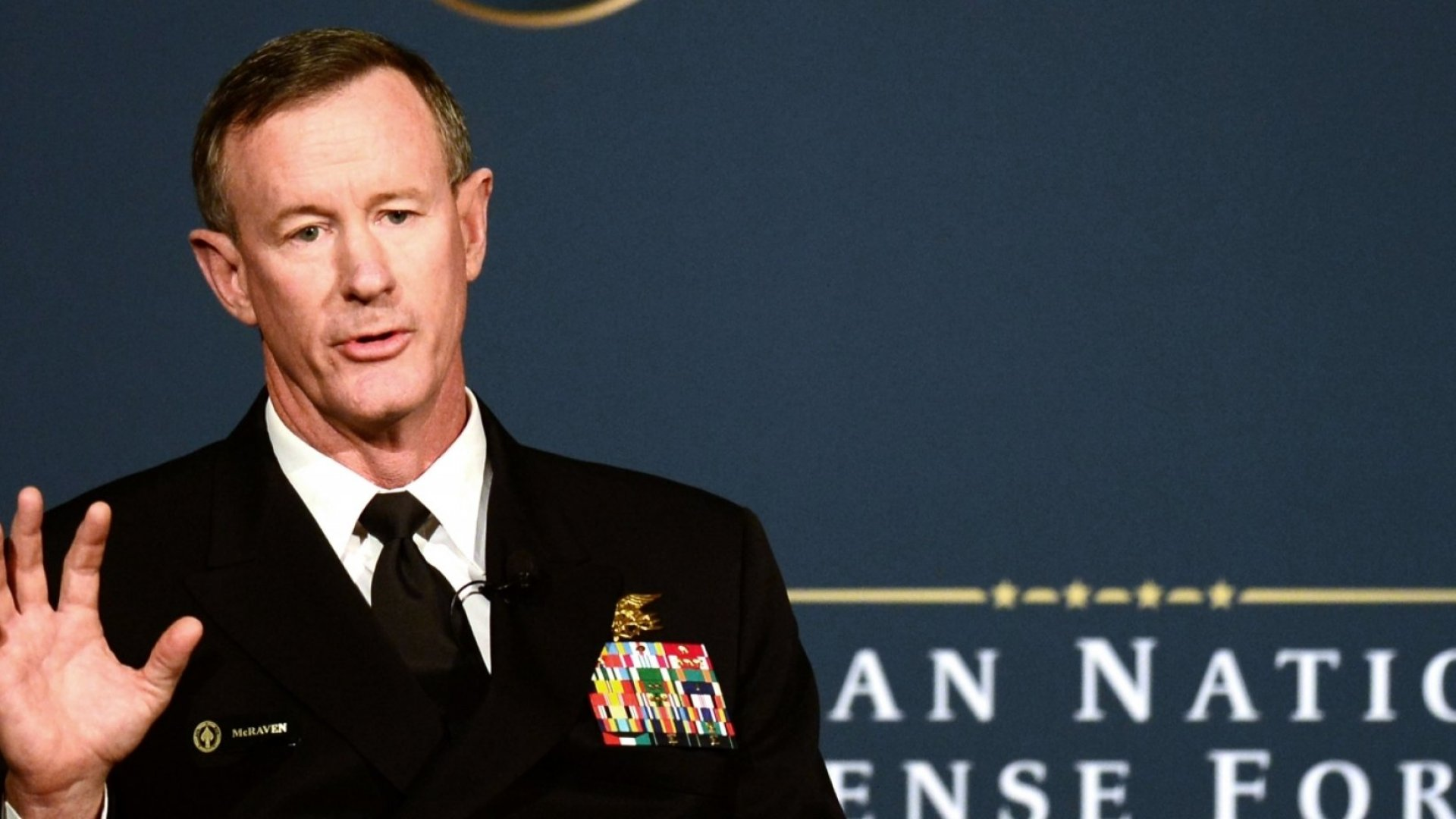 Admiral William McRaven.