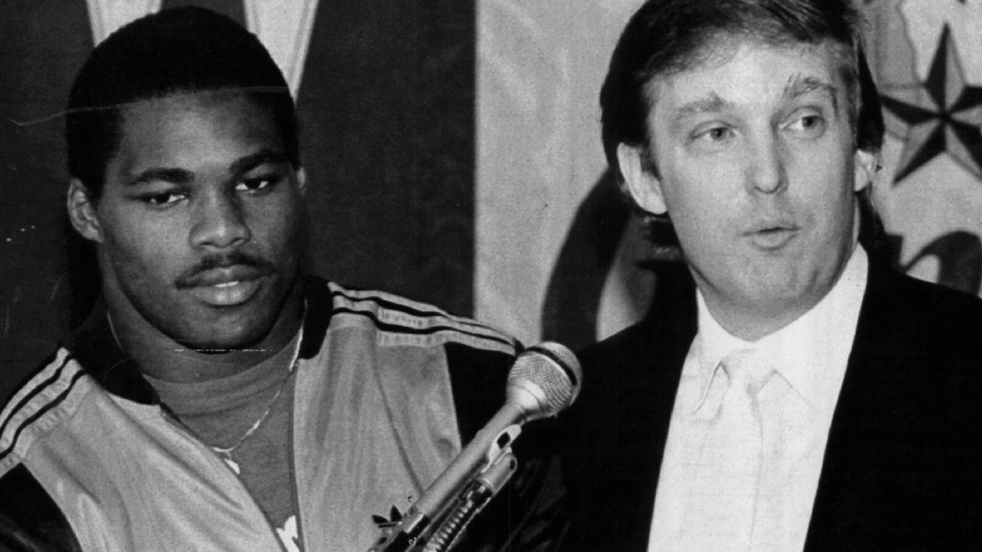 Herschel Walker and Donald Trump.