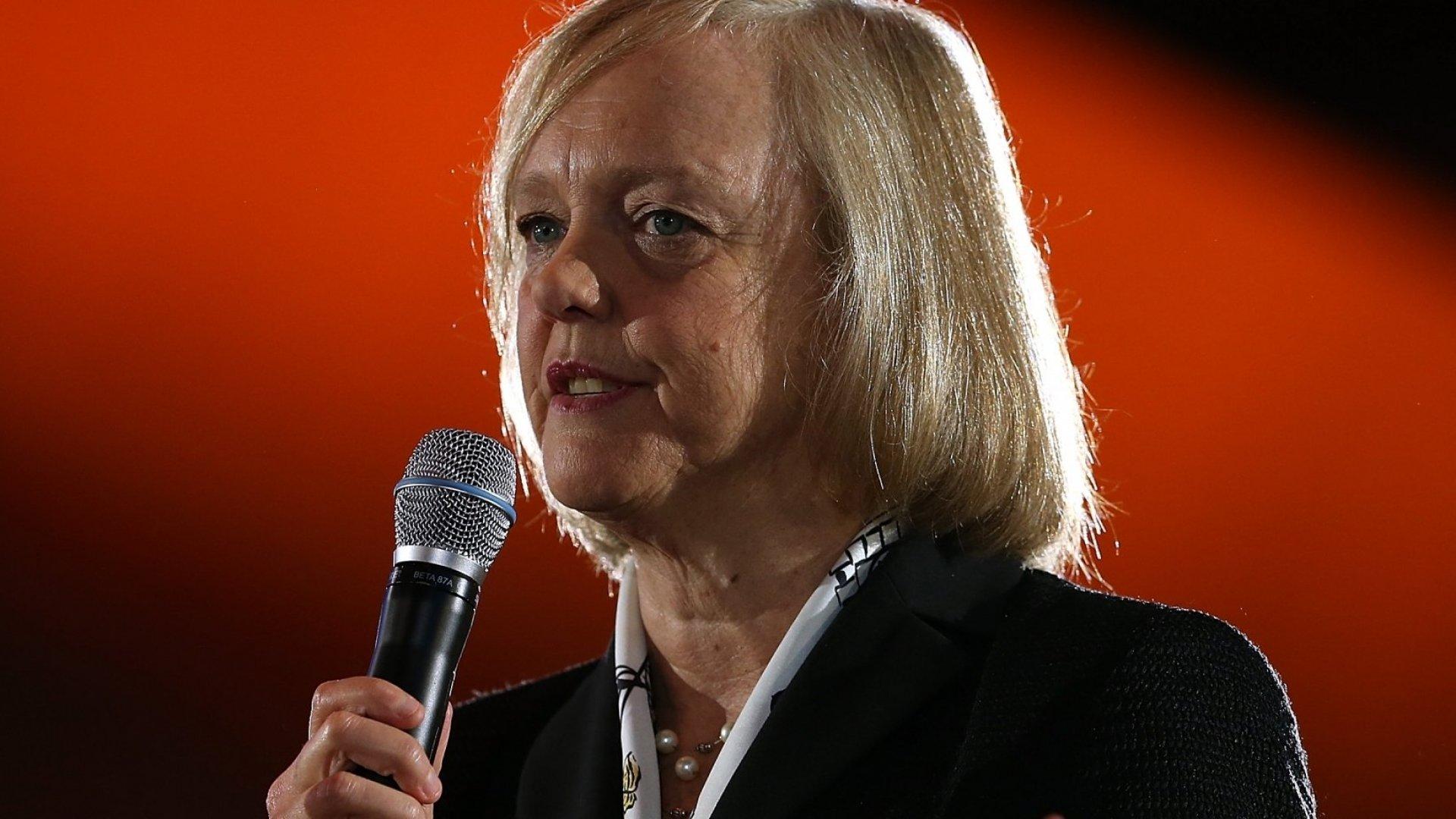 Meg Whitman, now CEO at Hewlett-Packard.