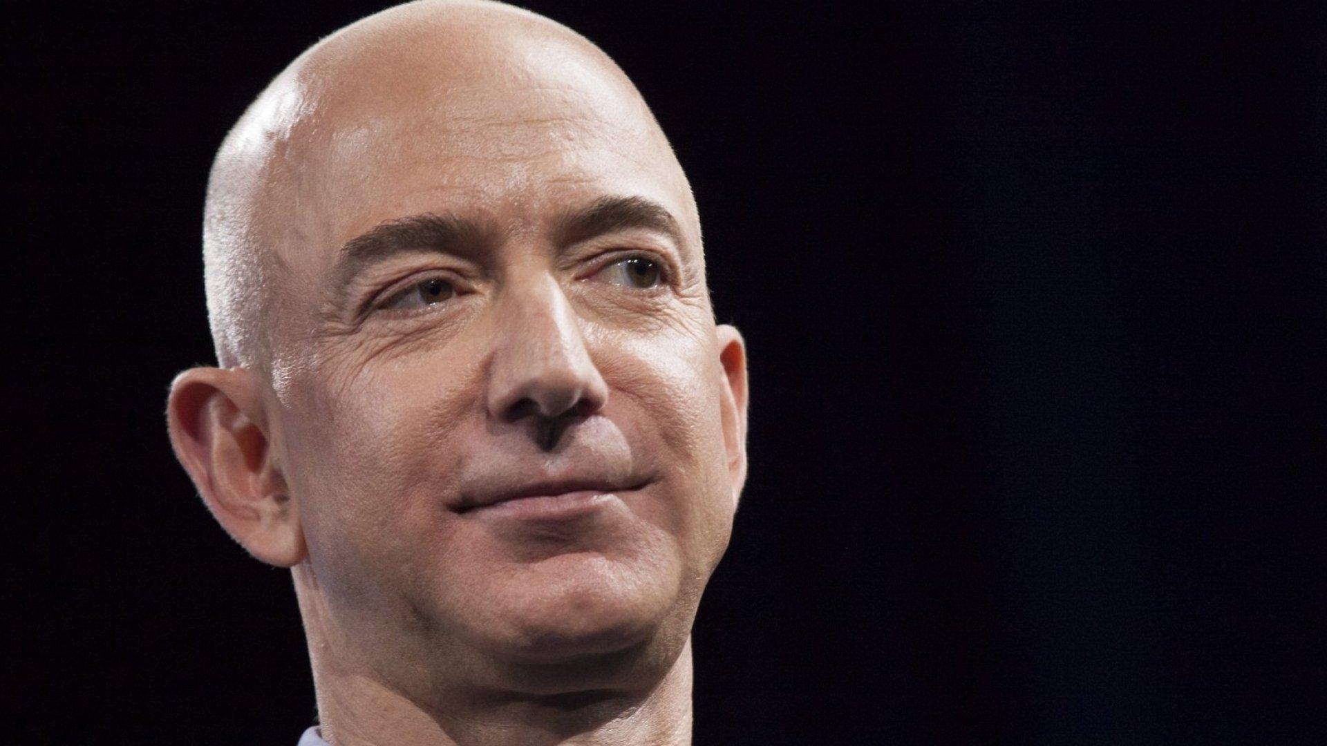 Jeff Bezos has one more wrinkle under his eyes than he had last year. (Chris Matyszczyk estimate.)