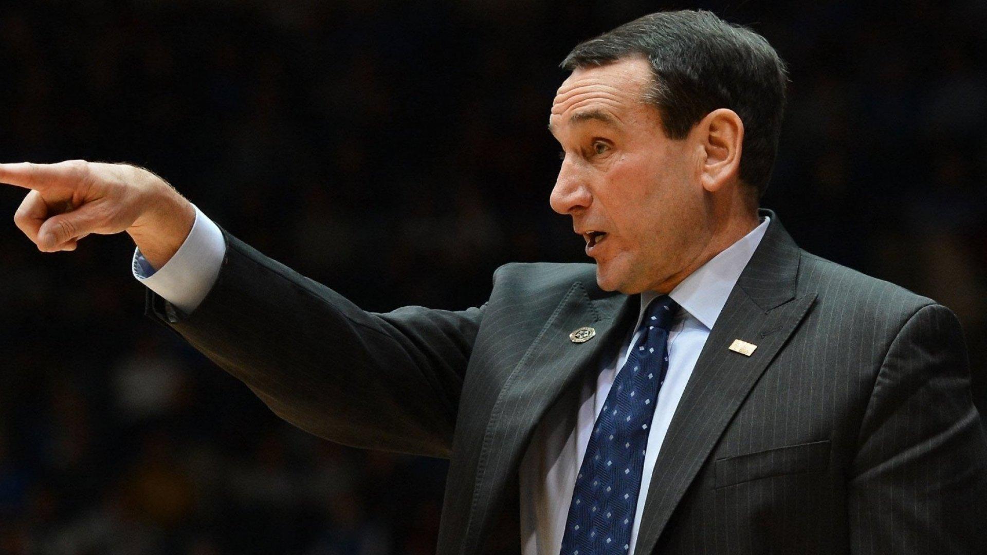 Why Duke's Coach K Runs His Brand Like Steve Jobs
