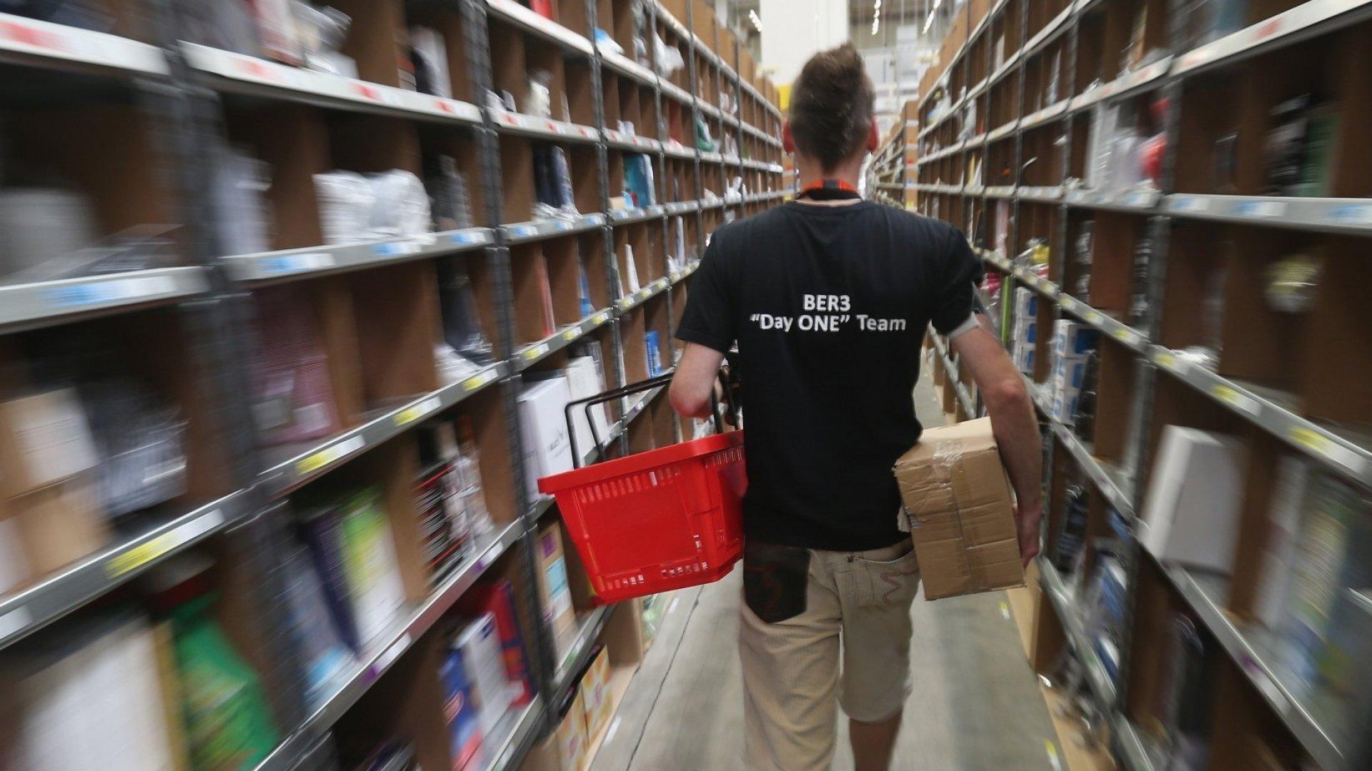 Inside an Amazon warehous