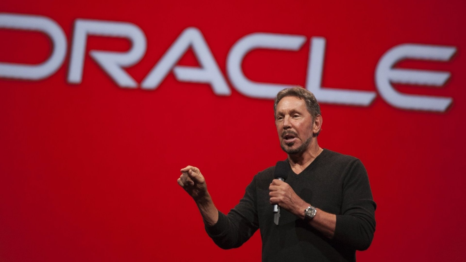 Oracle Executive Chairman of the Board and Chief Technology Officer, Larry Ellison.