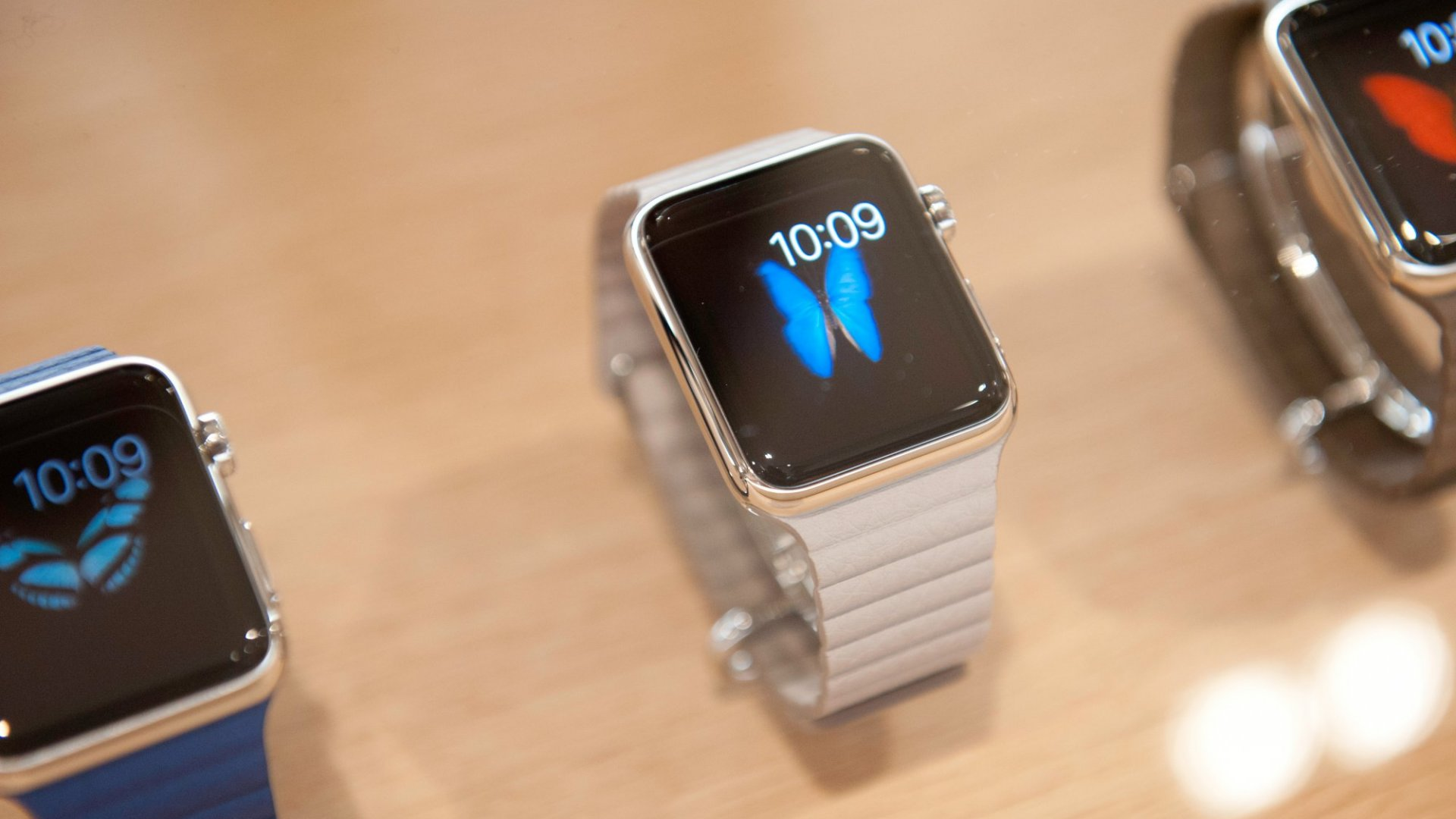 Apple presents its Apple Watch at Colette Paris on Sept. 30, 2014. (Photo by Kay-Paris Fernandes/Getty Images)