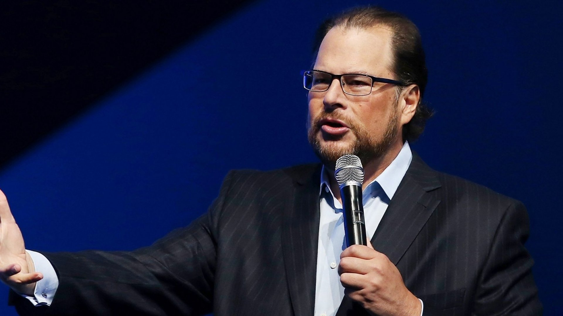 Salesforce CEO Marc Benioff Urges Businesses to Lead on Social Issues