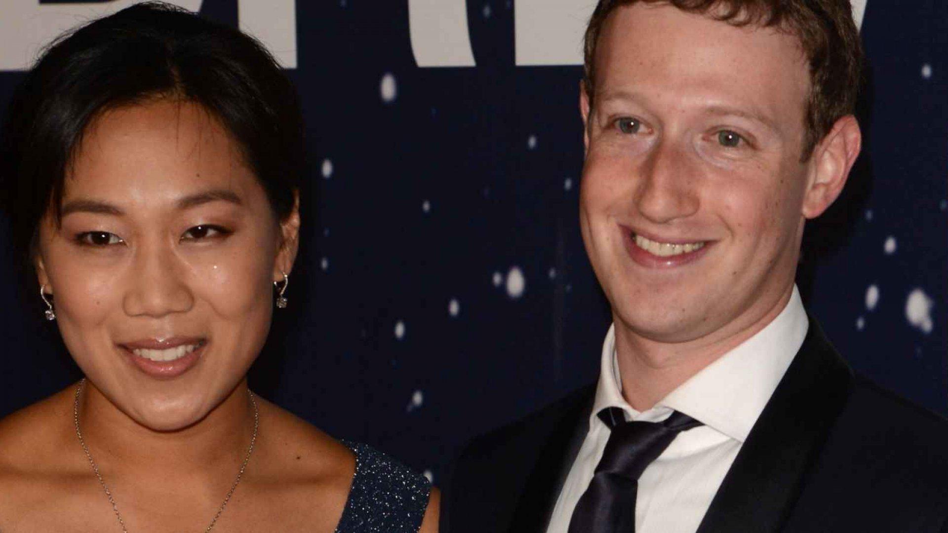 Priscilla Chan and Mark Zuckerberg.