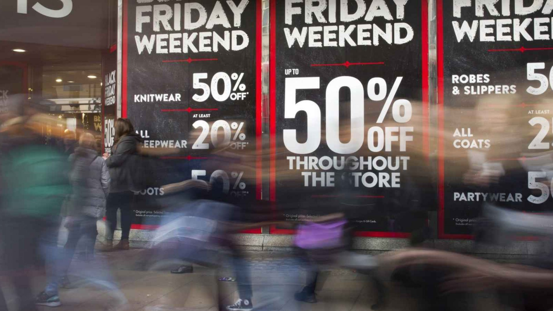Skip Black Friday! Get all your shopping done at once! AFP Photo / Justin Tallis