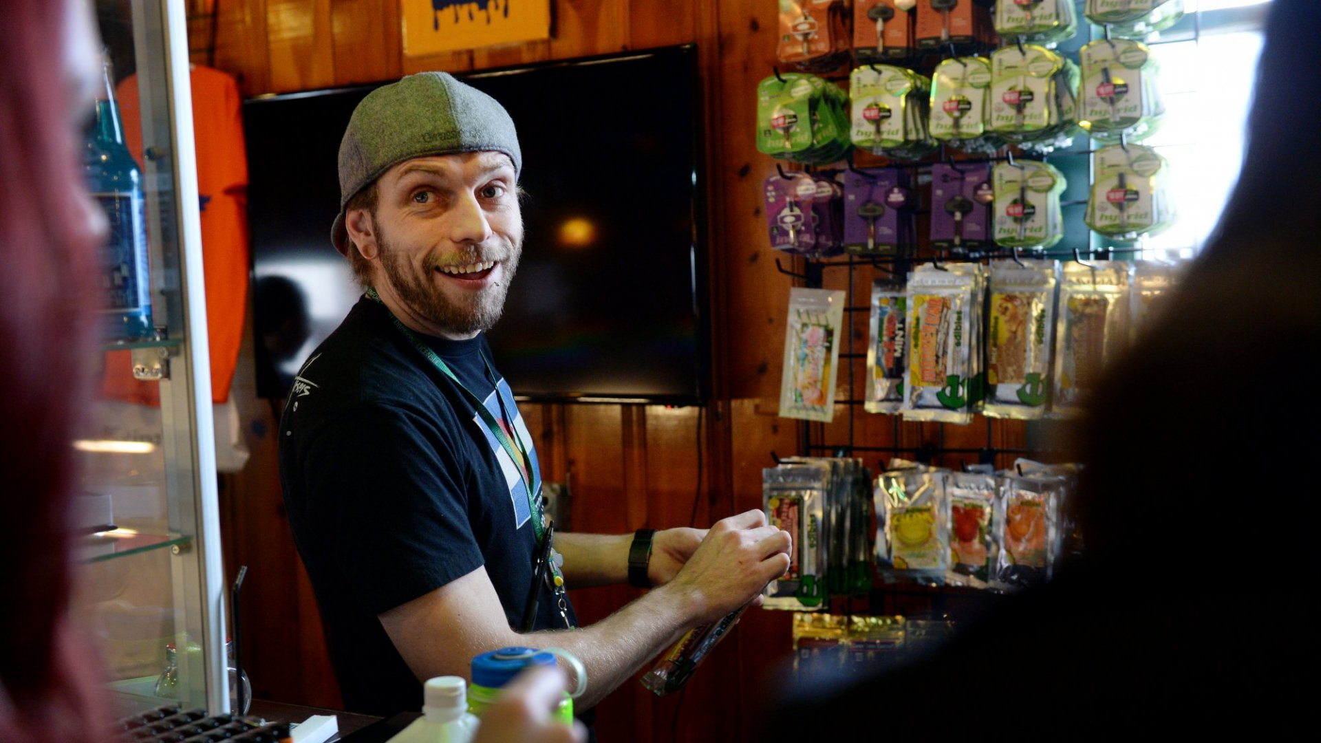 A bud tender at La Conte's dispensary in Denver, Colorado. The marijuana industry is growing and creating jobs in the legal economy that have never before existed.