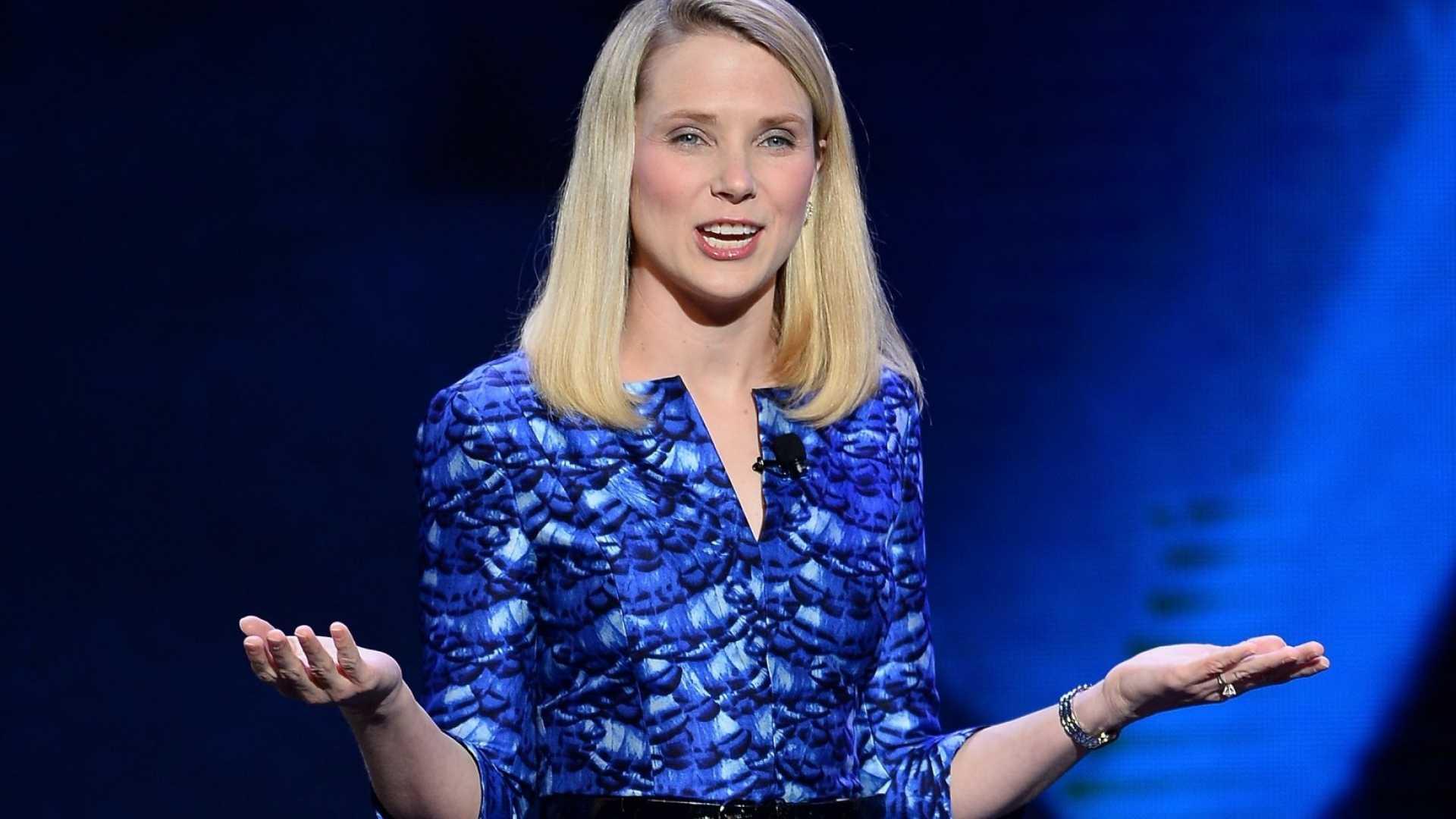 Here all week? Yahoo CEO Marissa Mayer.