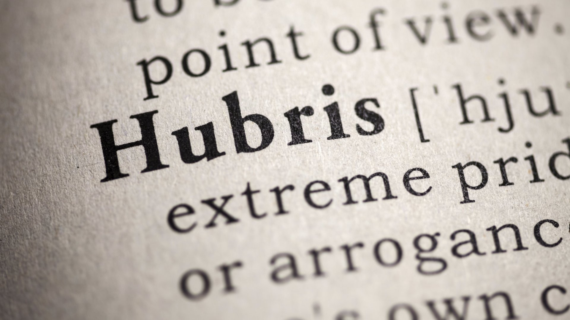 Why Great Founders Have 'CEO Hubris'