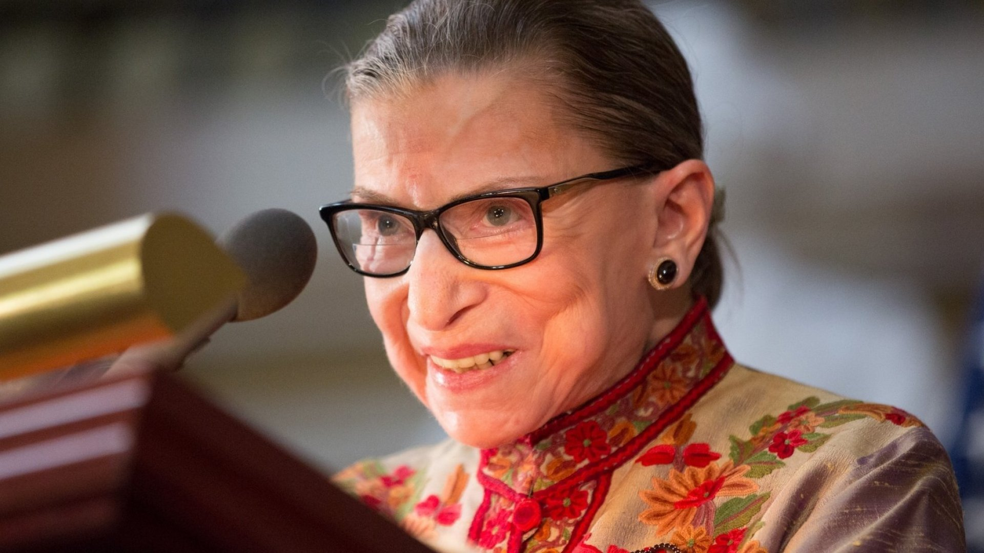 Ruth Bader Ginsburg Keeps Right on Working Despite Spending the Night in the Hospital