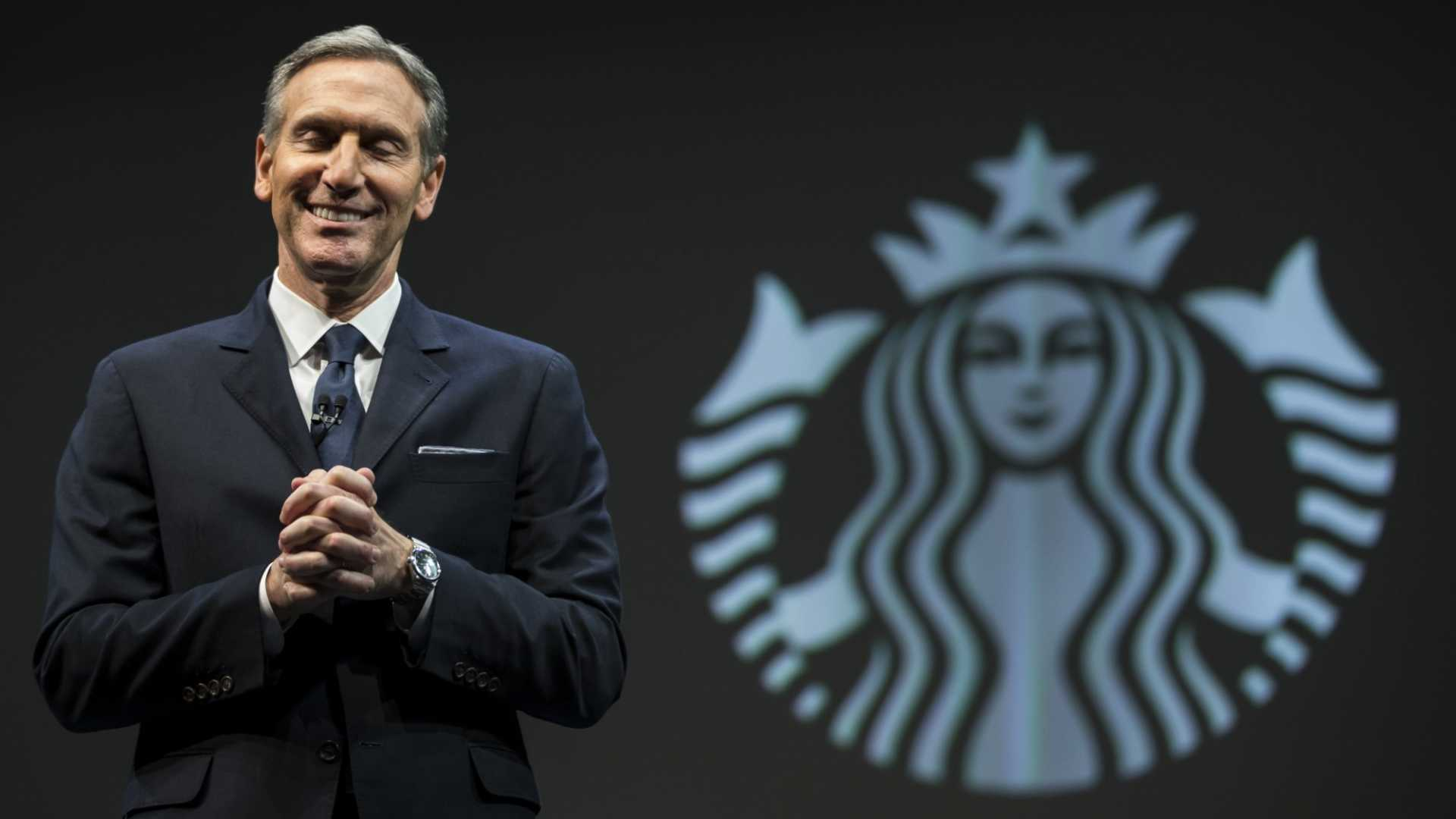 Why Howard Schultz Says Good Leaders Always Have a Social Purpose--No Matter What the Companies Sell