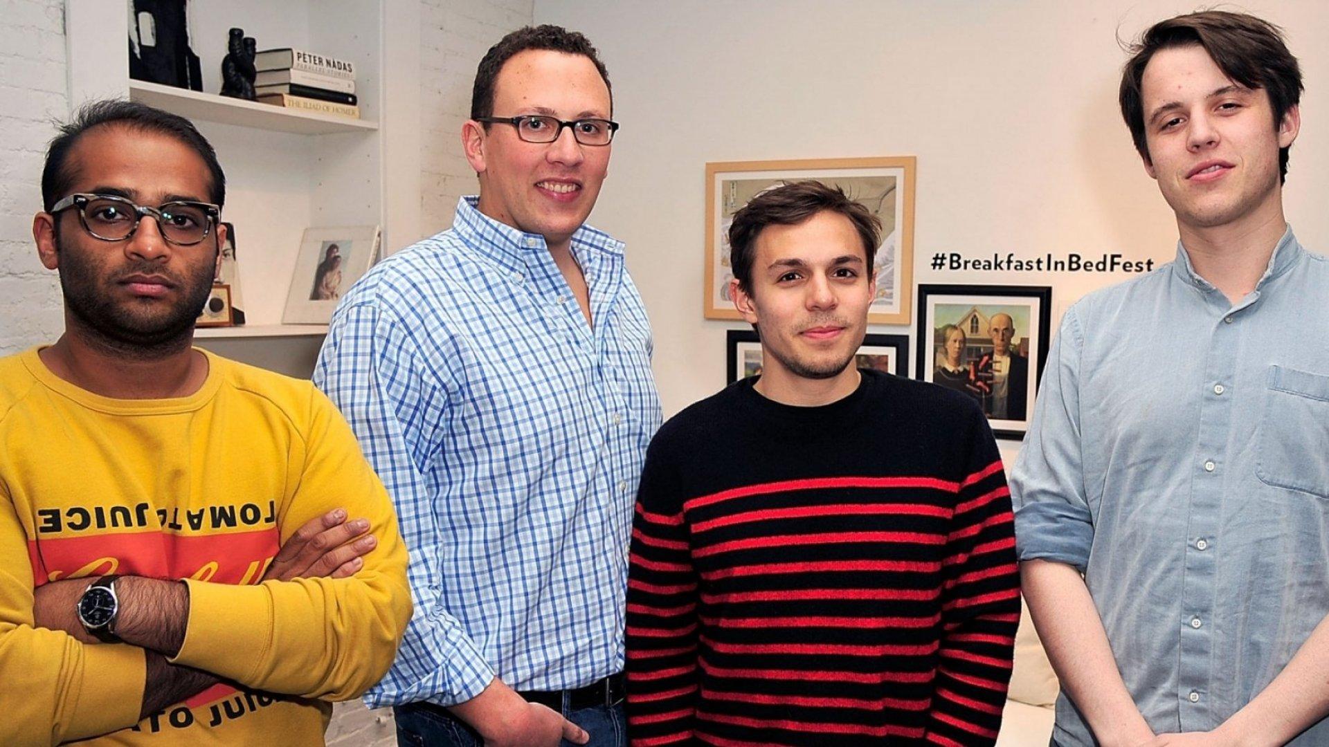 Casper co-founders Neil Parikh (left), Philip Krim, Gabriel Flademan and Luke Sherwin.