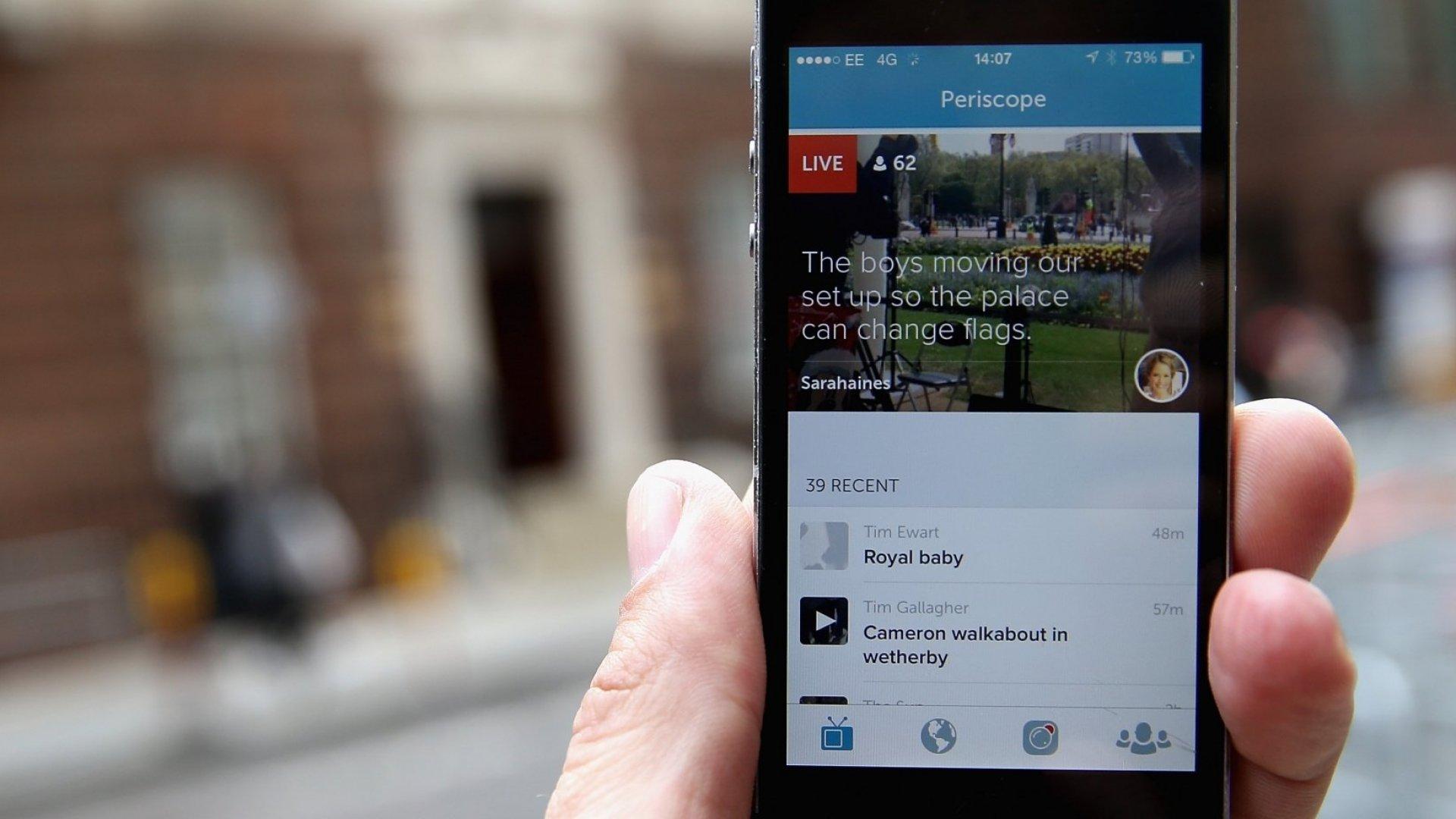 Companies Exploit Live-Streaming Apps Periscope, Meerkat