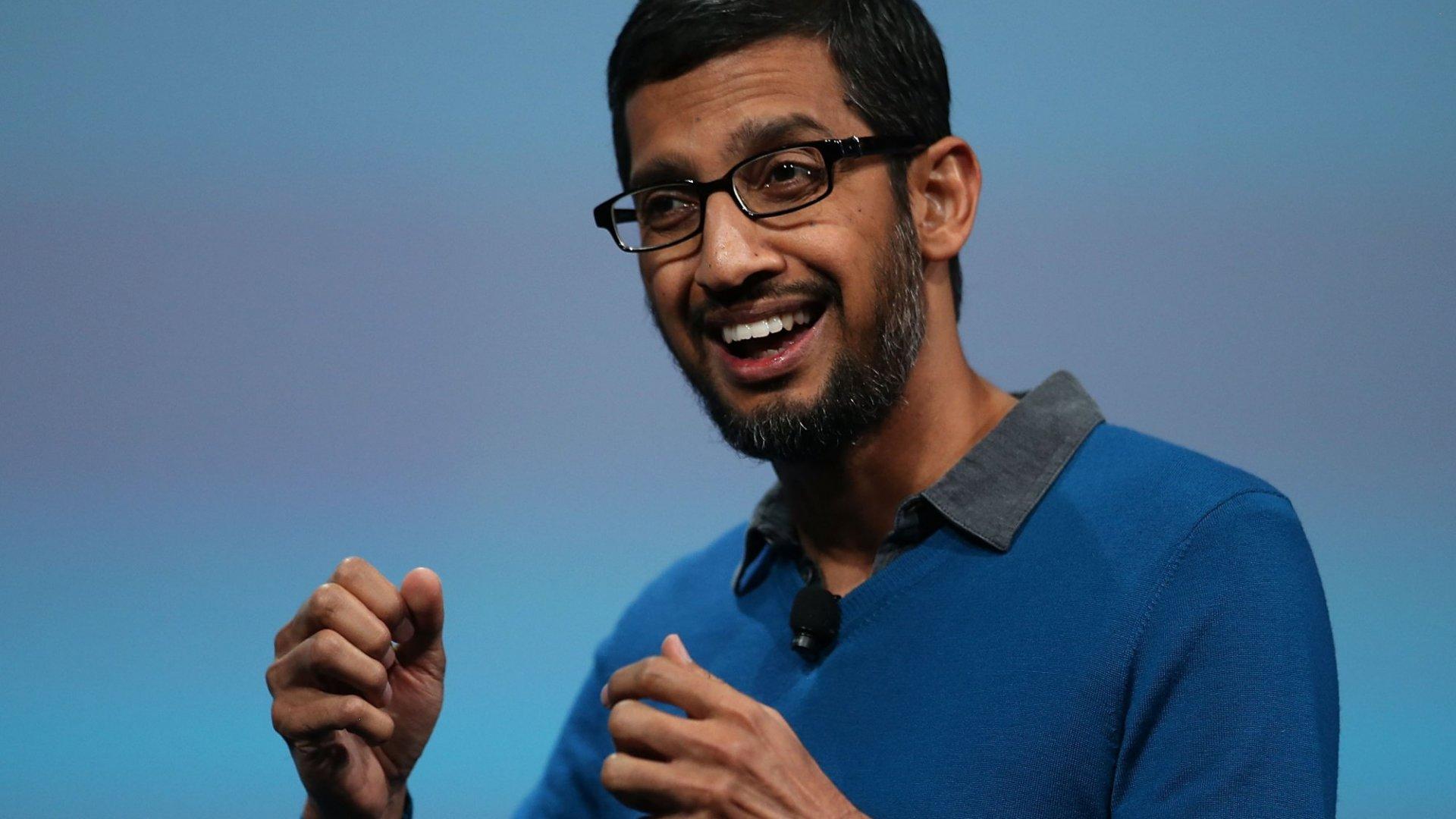 Inside the Daily Routine of Google CEO Sundar Pichai