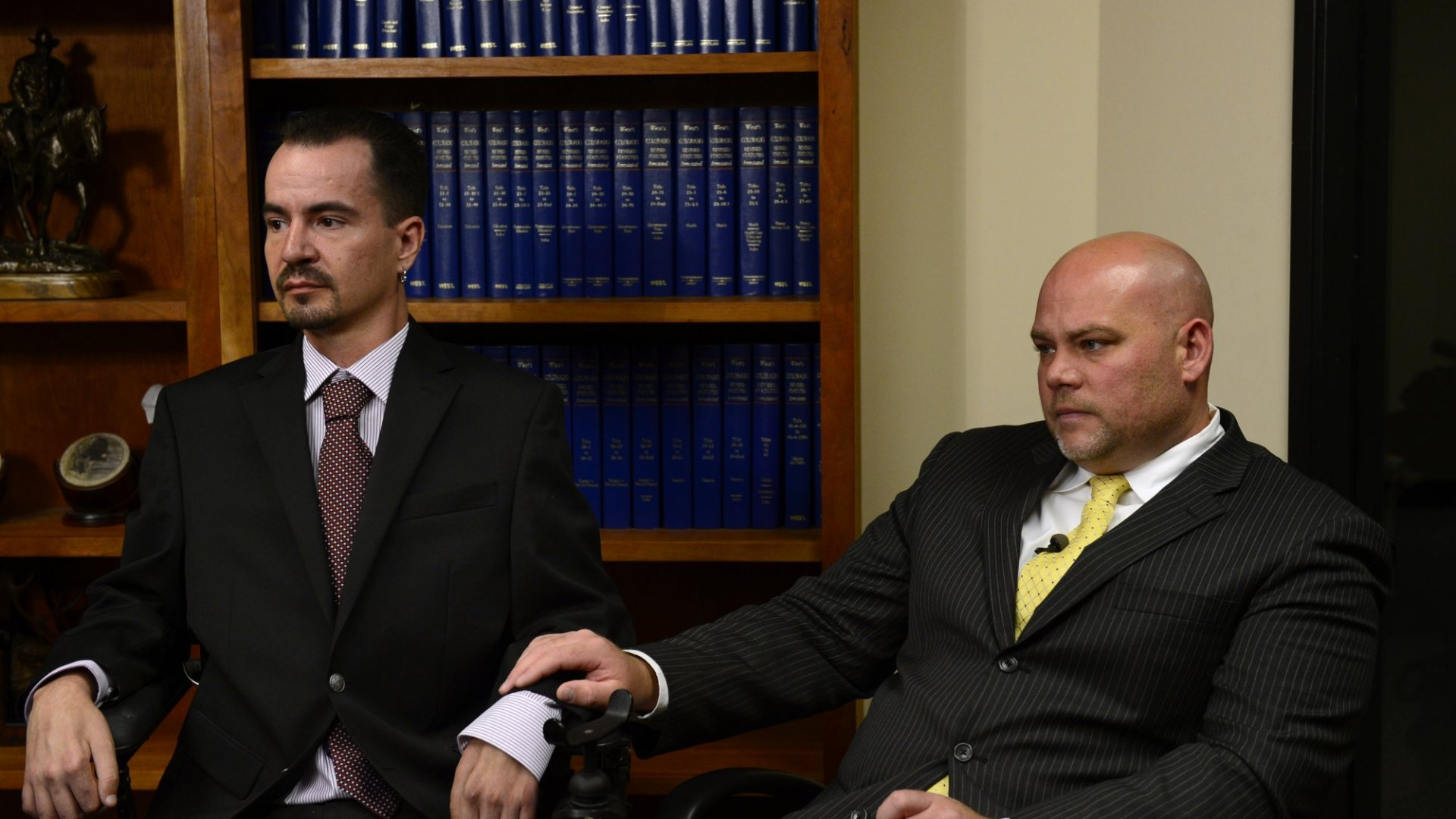 Brandon Coats, left, who is a quadriplegic, was fired for testing positive for marijuana. In 2015, the Colorado Supreme Court upheld a lower court's decision to allow companies to terminate employees for using medical marijuana during non-work hours.