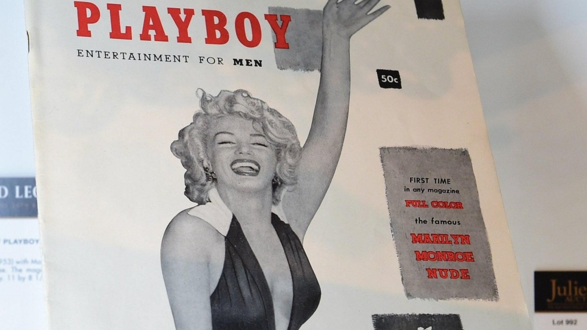 The first issue of Playboy came out in December, 1953.