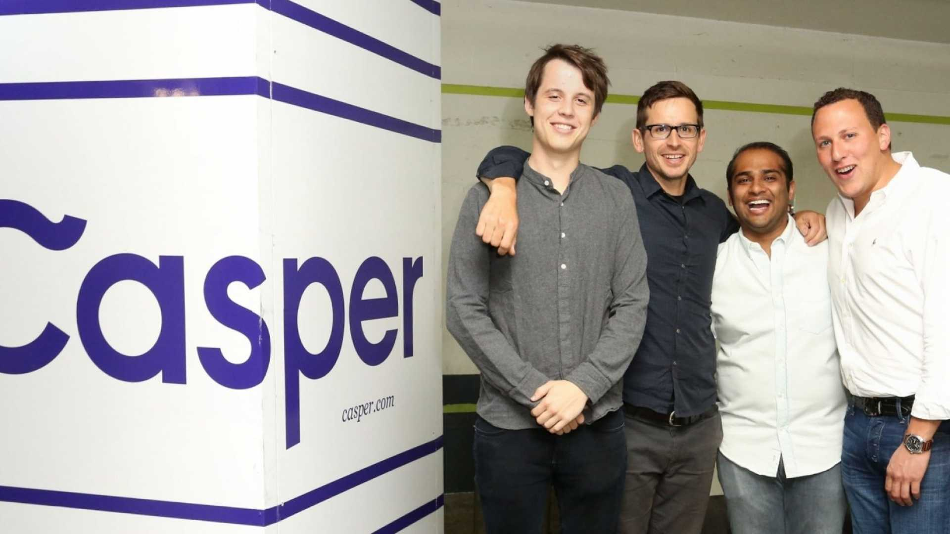 Casper Co-Founders & Chief Executive Officers Luke Sherwin (left), Jeff Chapin, Neil Parikh, and Philip Krim.
