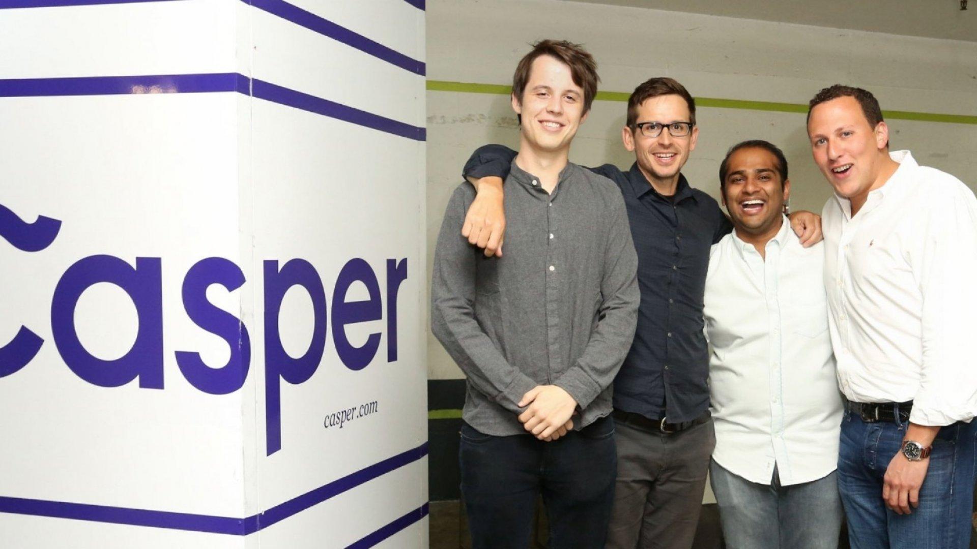 Casper co-founders Luke Sherwin, Jeff Chapin, Neil Parikh, and Philip Krim.