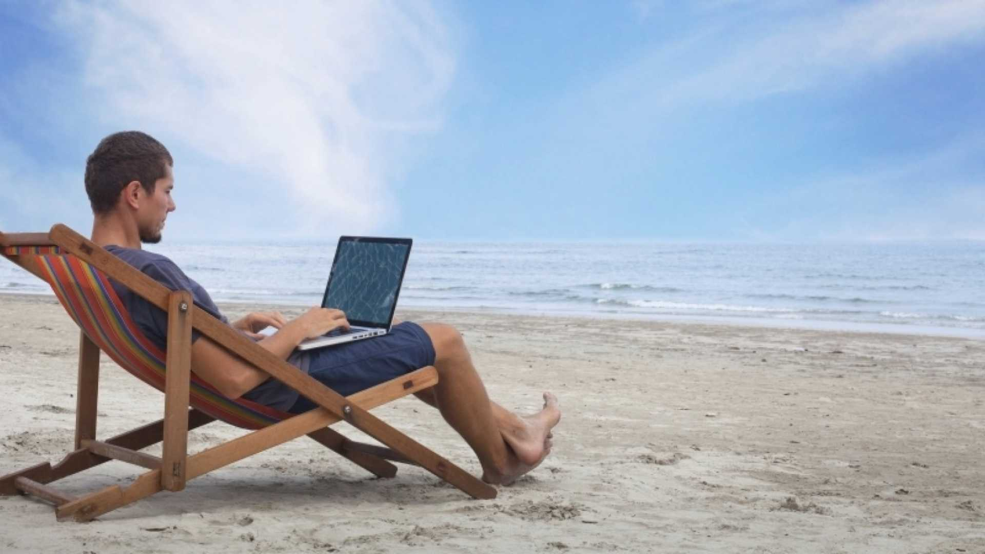 How to Relax on the Beach While Working a Full-Time Job