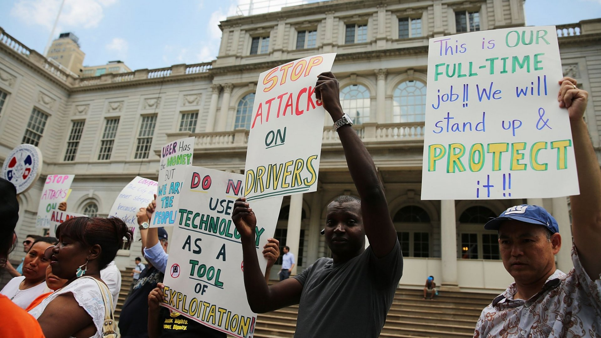 Uber Drivers Union Says N.Y. Mayor Bill de Blasio's Growth Cap Is a Great Idea