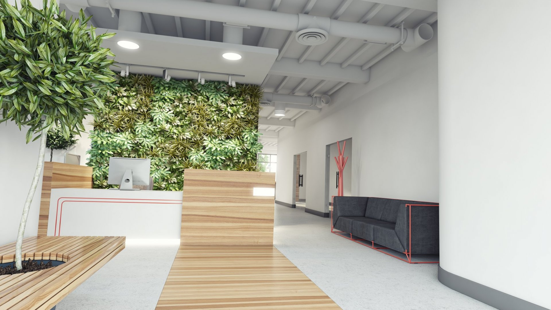 Green up the office with a living wall.